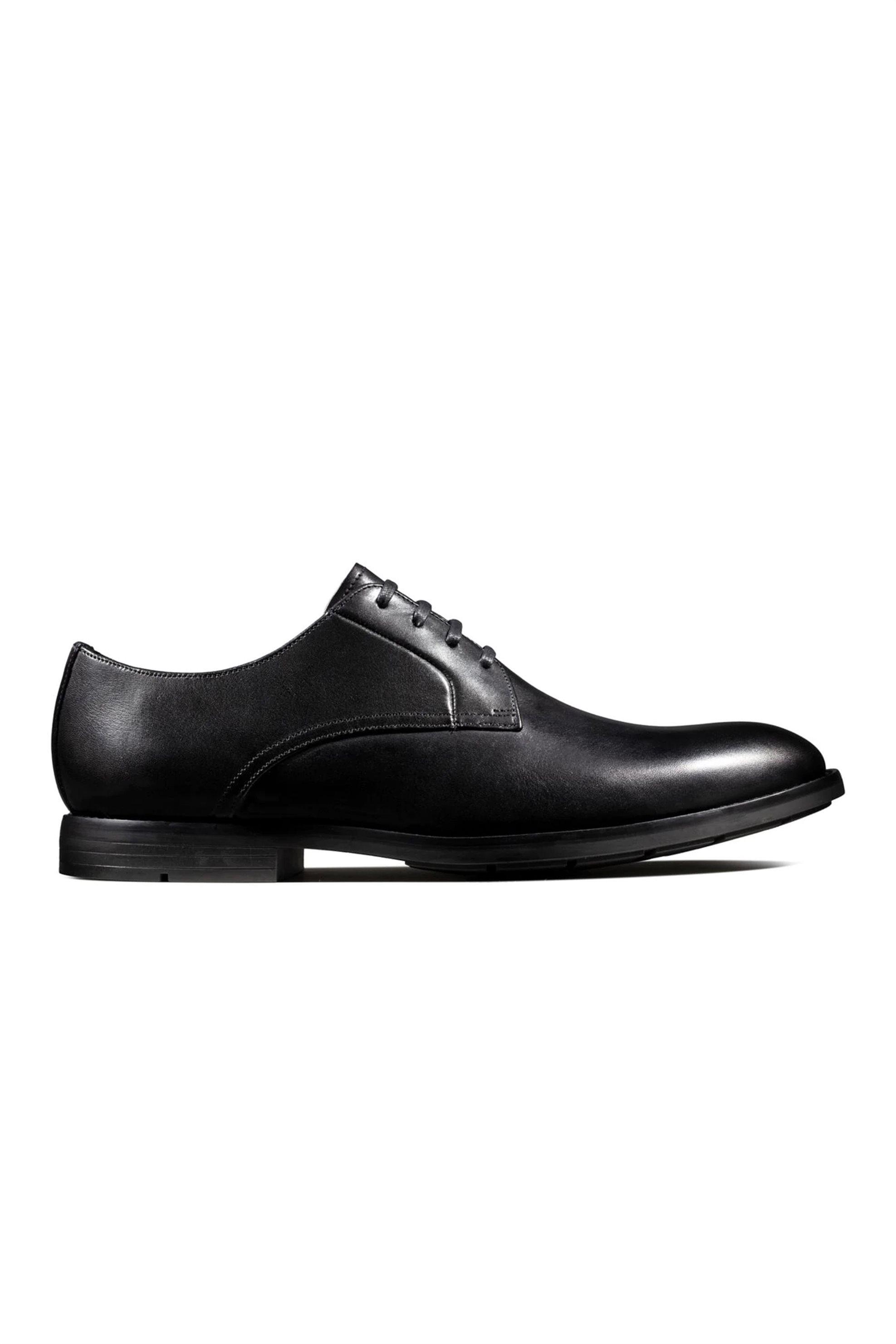 Clarks ανδρικά δερμάτινα παπούτσια oxford «Ronnie Walk' – 26143810 – Μαύρο