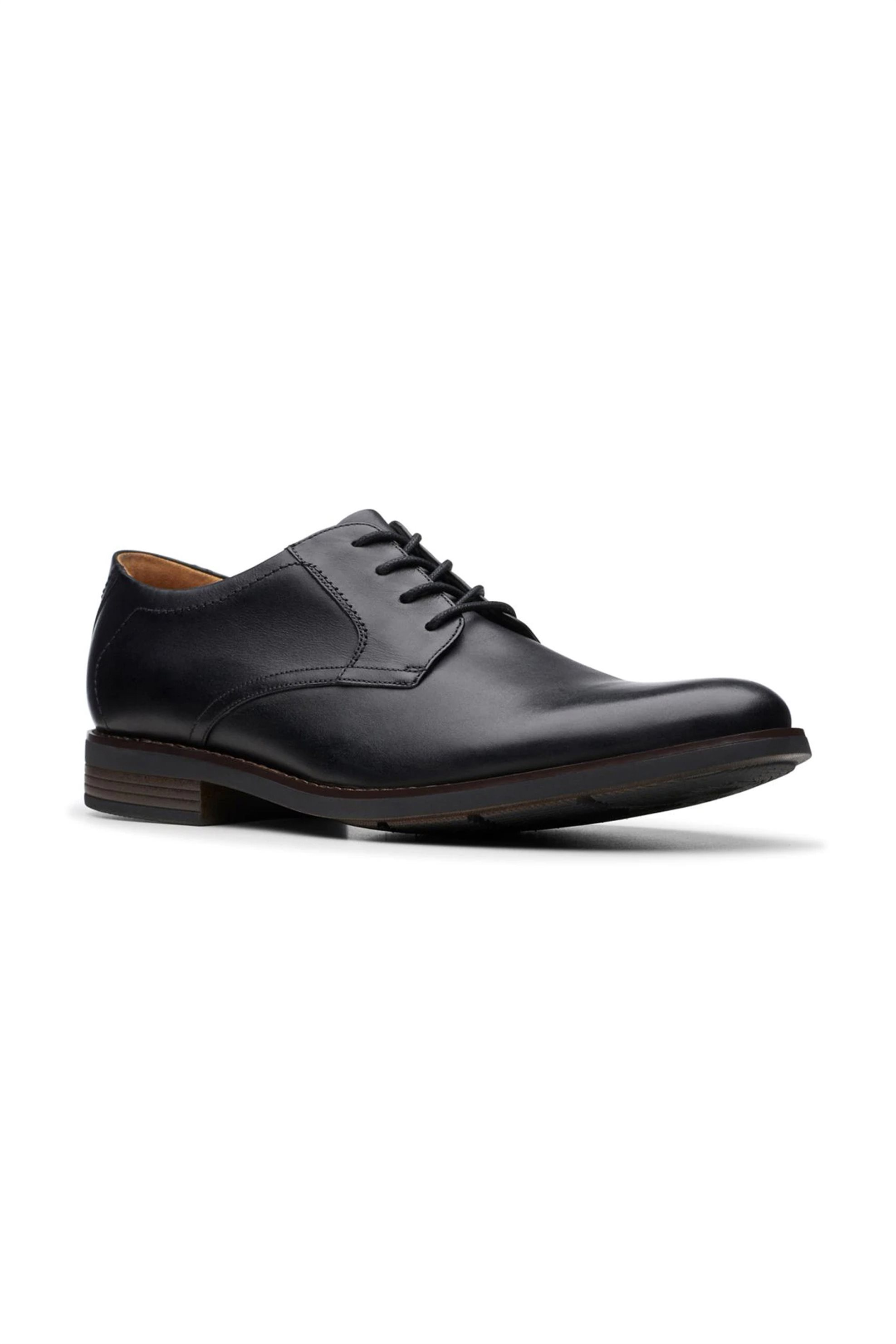 "Clarks ανδρικά δερμάτινα παπούτσια oxford ""Becken Lace"" – 26145295 – Μαύρο"