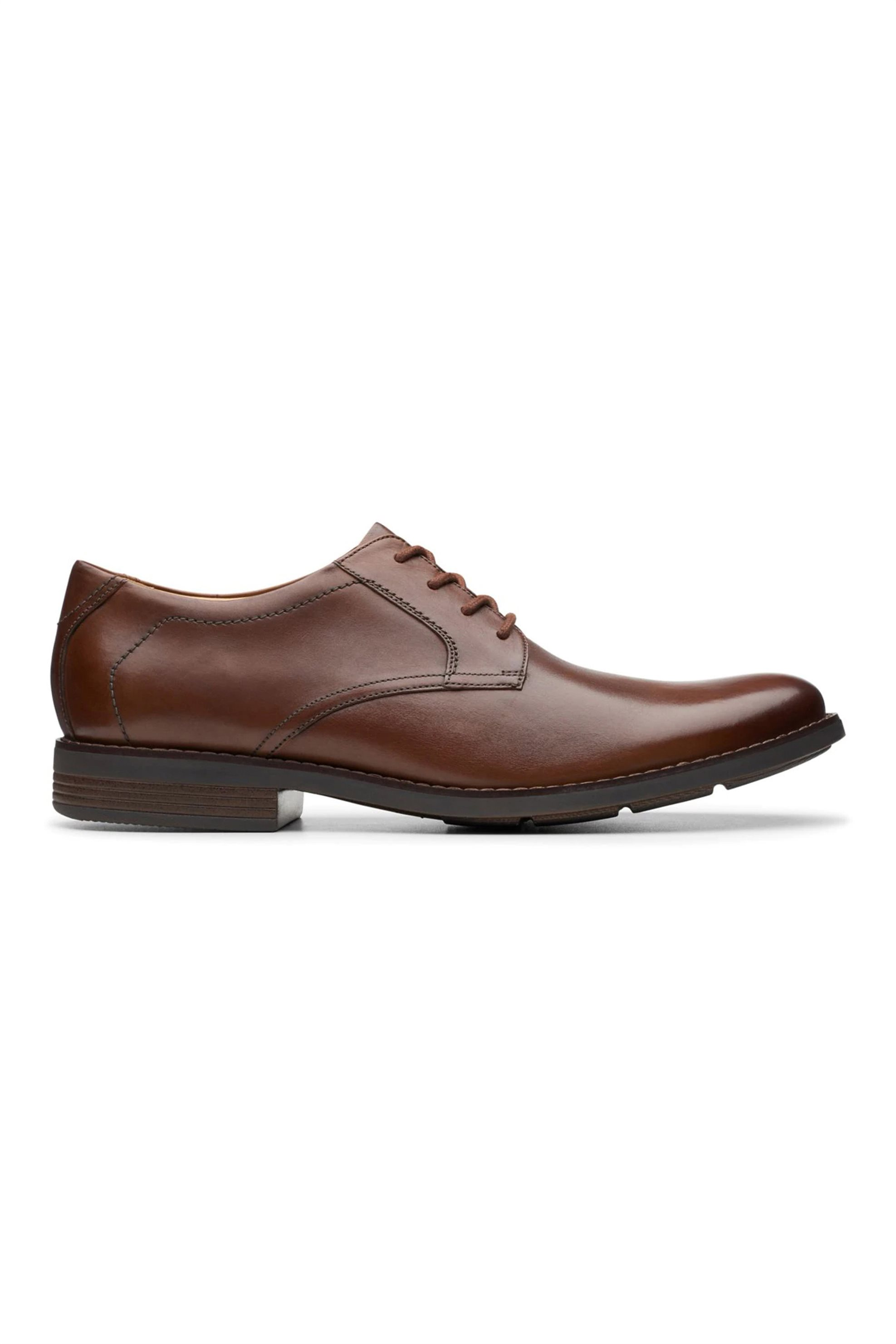 "Clarks ανδρικά δερμάτινα παπούτσια oxford ""Becken Lace"" – 26145296 – Καφέ"
