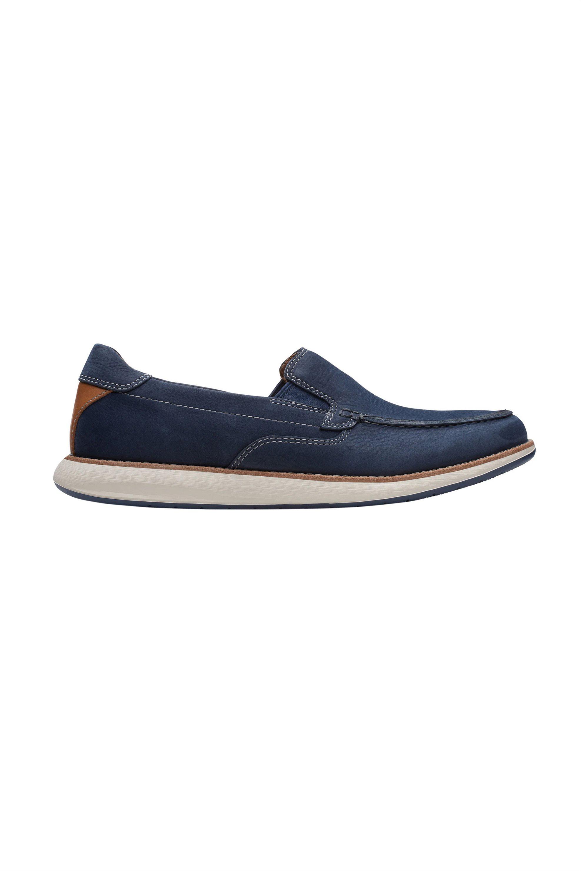 Clarks ανδρικά δερμάτινα παπούτσια με suede όψη – 26140956 – Μπλε Σκούρο