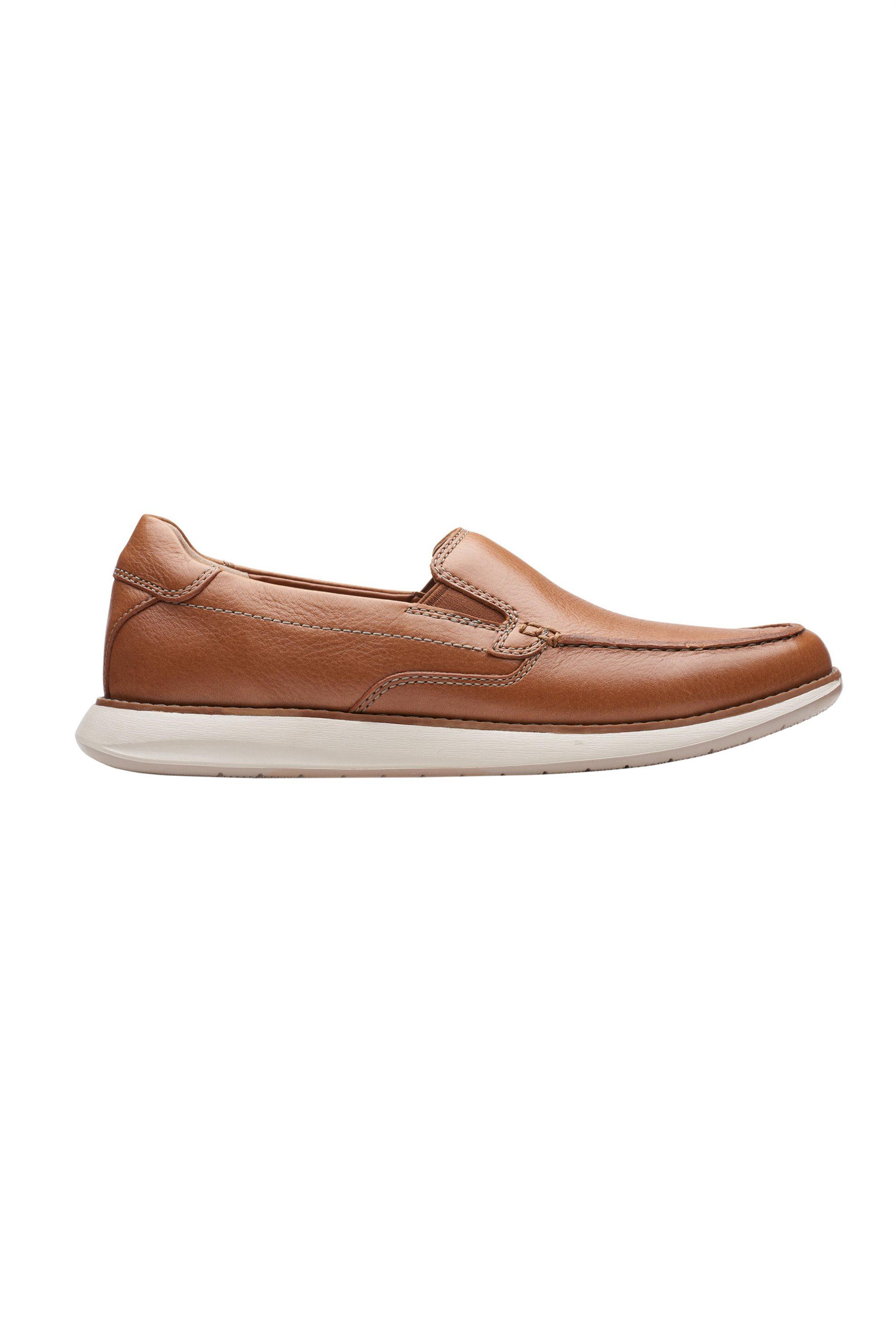 """Clarks ανδρικά δερμάτινα παπούτσια """"Un Pilot Step"""" – 26148664 – Ταμπά"""