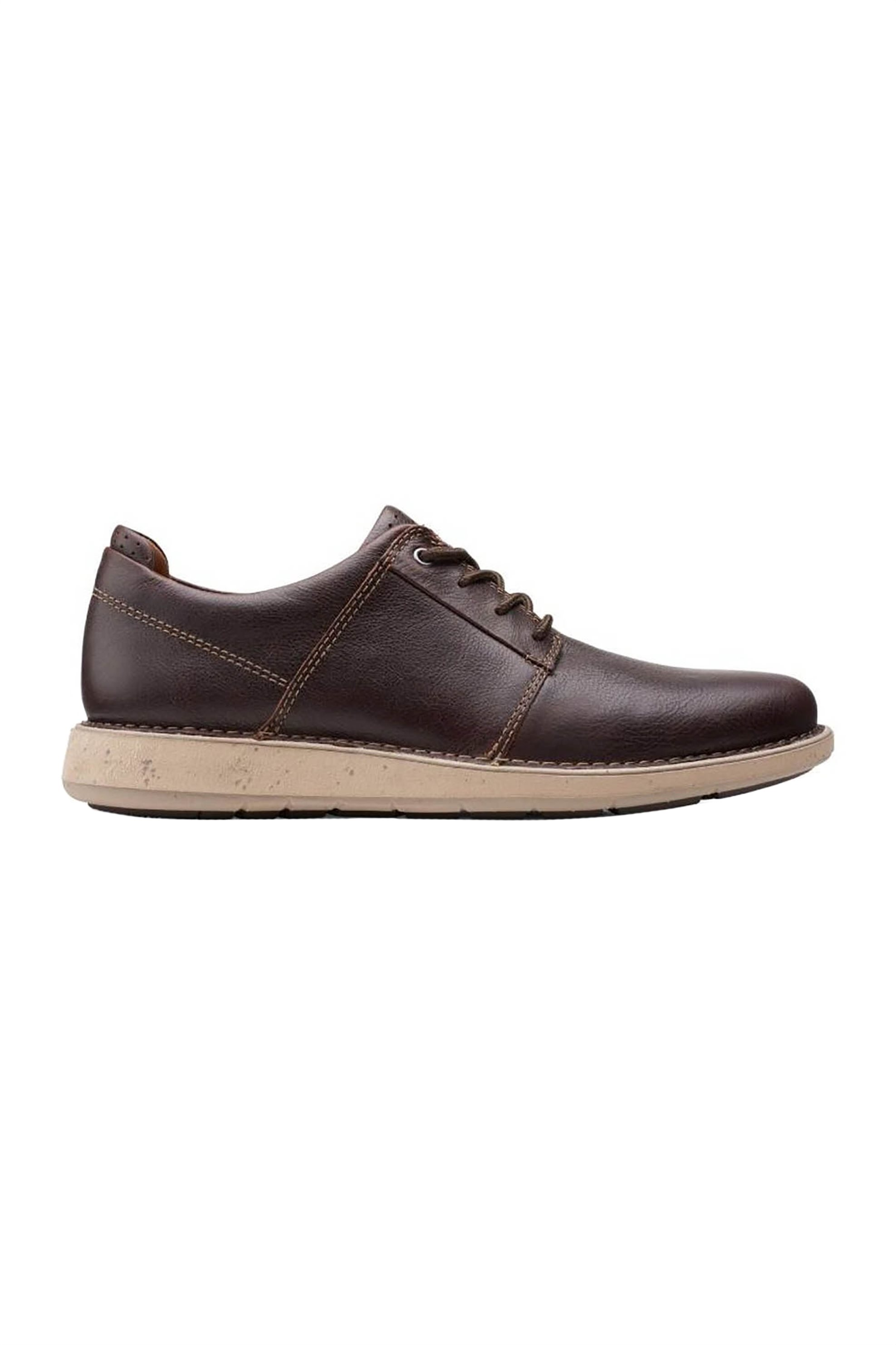 "Clarks ανδρικά δερμάτινα παπούτσια oxford ""Un Larviklace2"" – 26155086 – Καφέ"