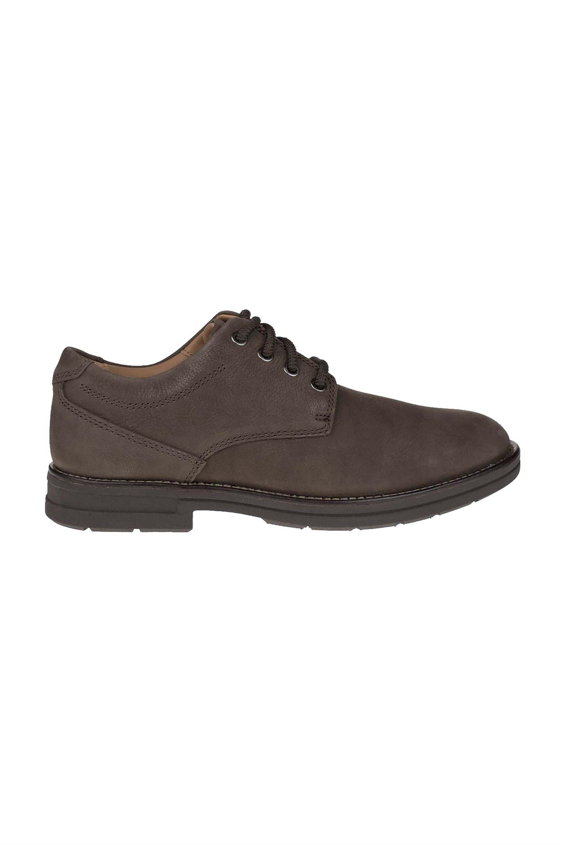 "Clarks ανδρικά nubuck παπούτσια με κορδόνια ""Banning Plain"" – 26152027 – Καφέ"