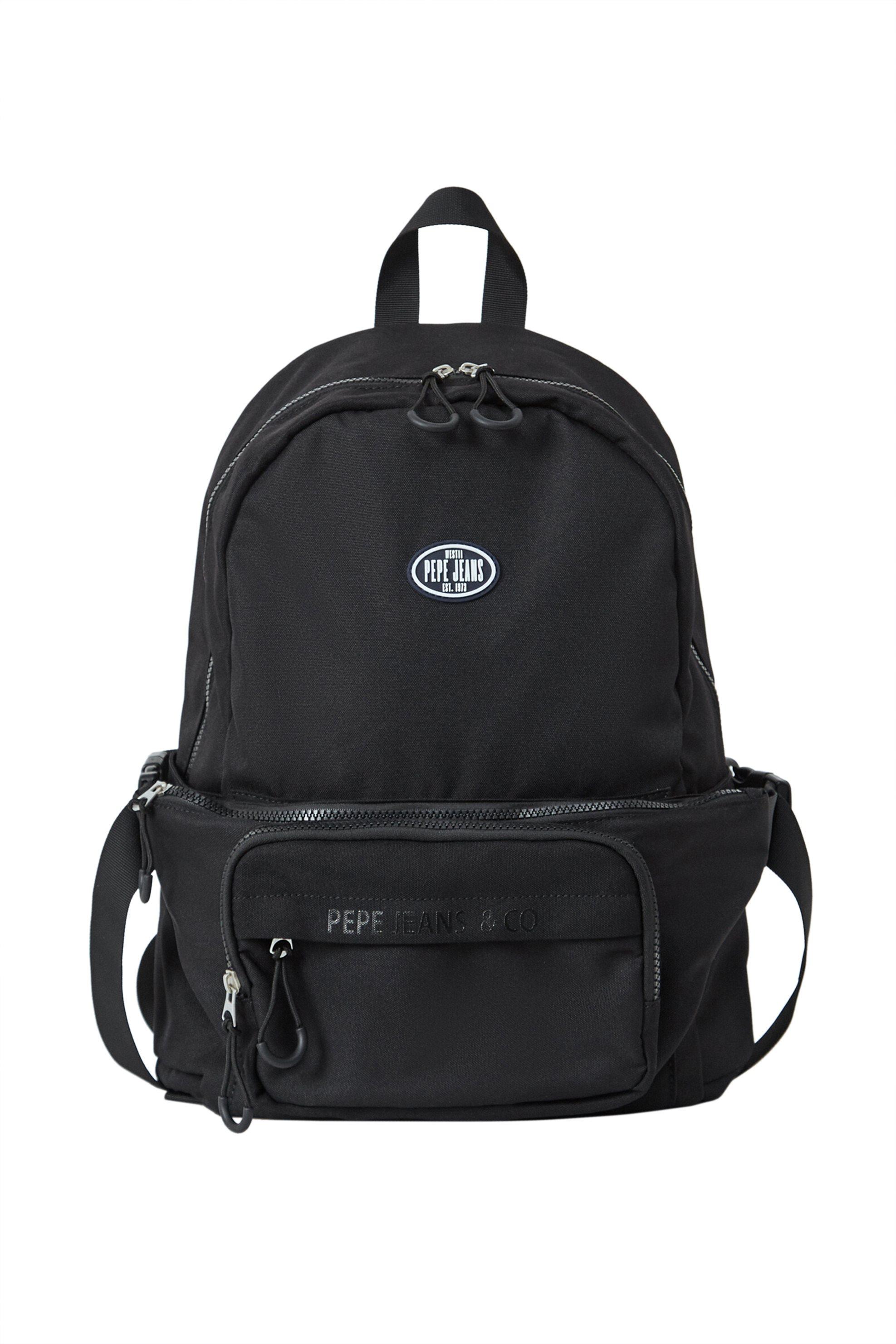 Pepe Jeans ανδρικό backpack με αποσπώμενο τσαντάκι μέσης ''Octavio'' - PM030615 - Μαύρο