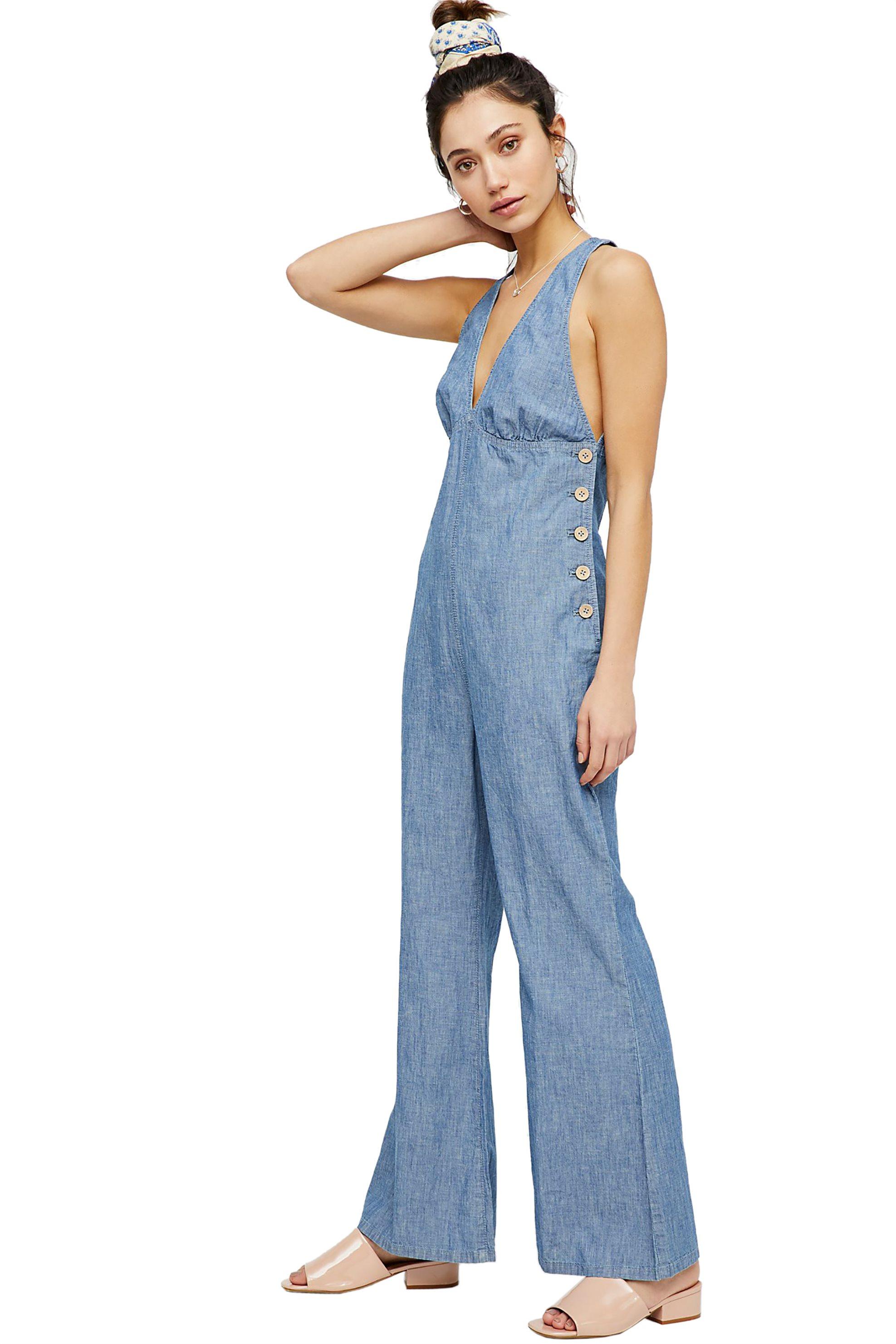 Free People γυναικεία ολόσωμη φόρμα Dance All Night One-Piece - OB776374 - Γαλάζ γυναικα   ρουχα   ολόσωμες φόρμες   σαλοπέτες