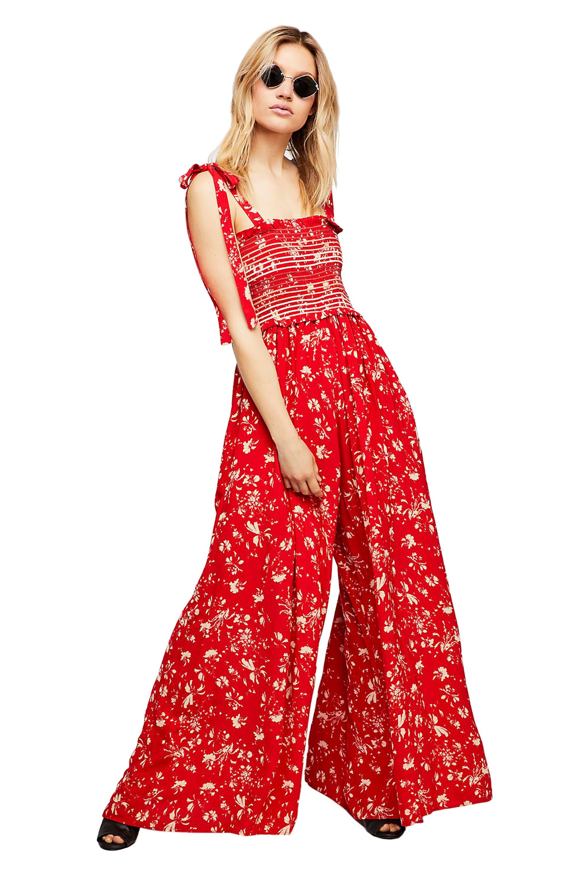Free People γυναικεία ολόσωμη φόρμα Color My World Jumpsuit - OB814999 - Κόκκινο γυναικα   ρουχα   ολόσωμες φόρμες   σαλοπέτες
