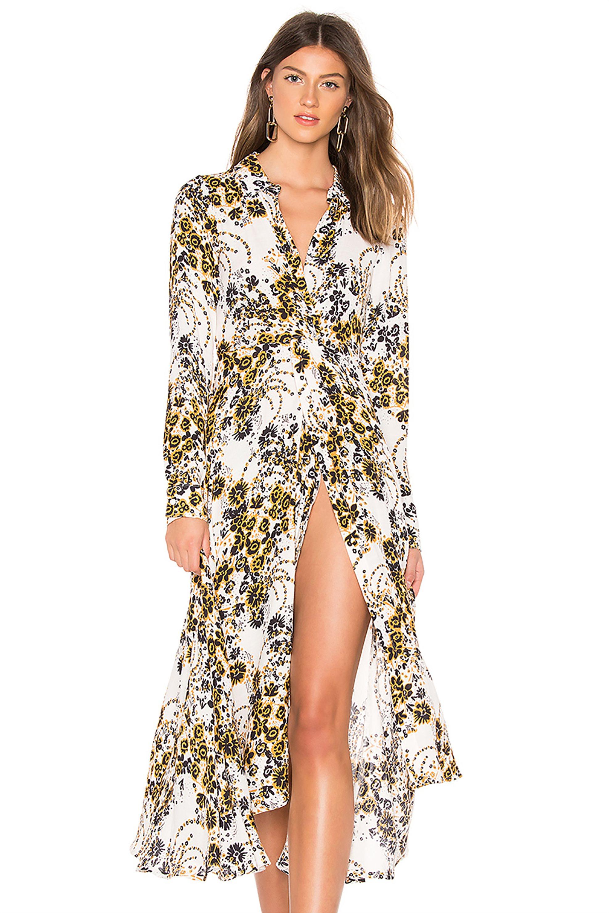 Free People γυναικείο φόρεμα Tough Love Shirtdress - OB872268 - Εκρού γυναικα   ρουχα   φορέματα   midi φορέματα