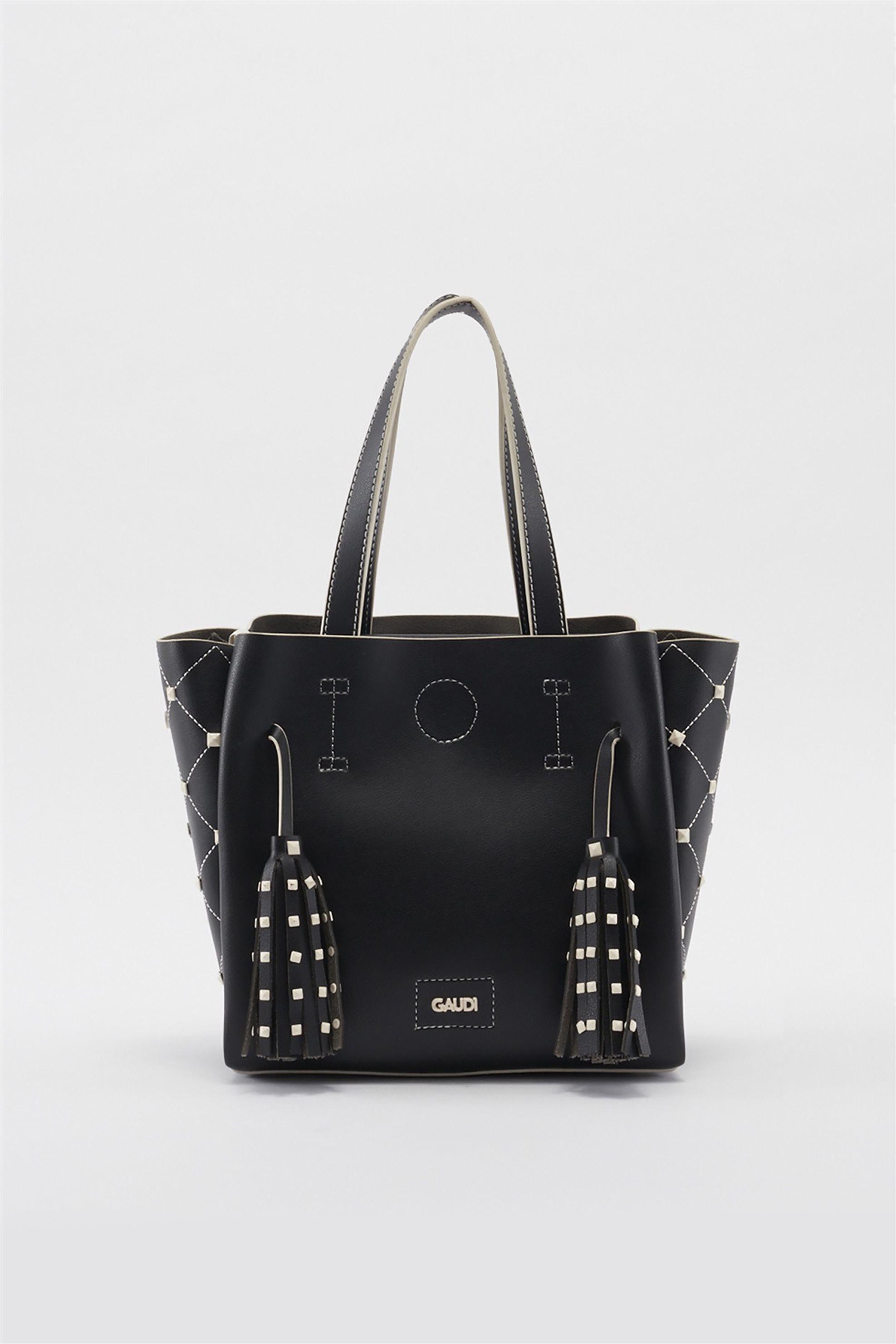 5999406a35 Notos Gaudi γυναικεία τσάντα χειρός Linea Era Valentine - V9A-71151 - Μαύρο
