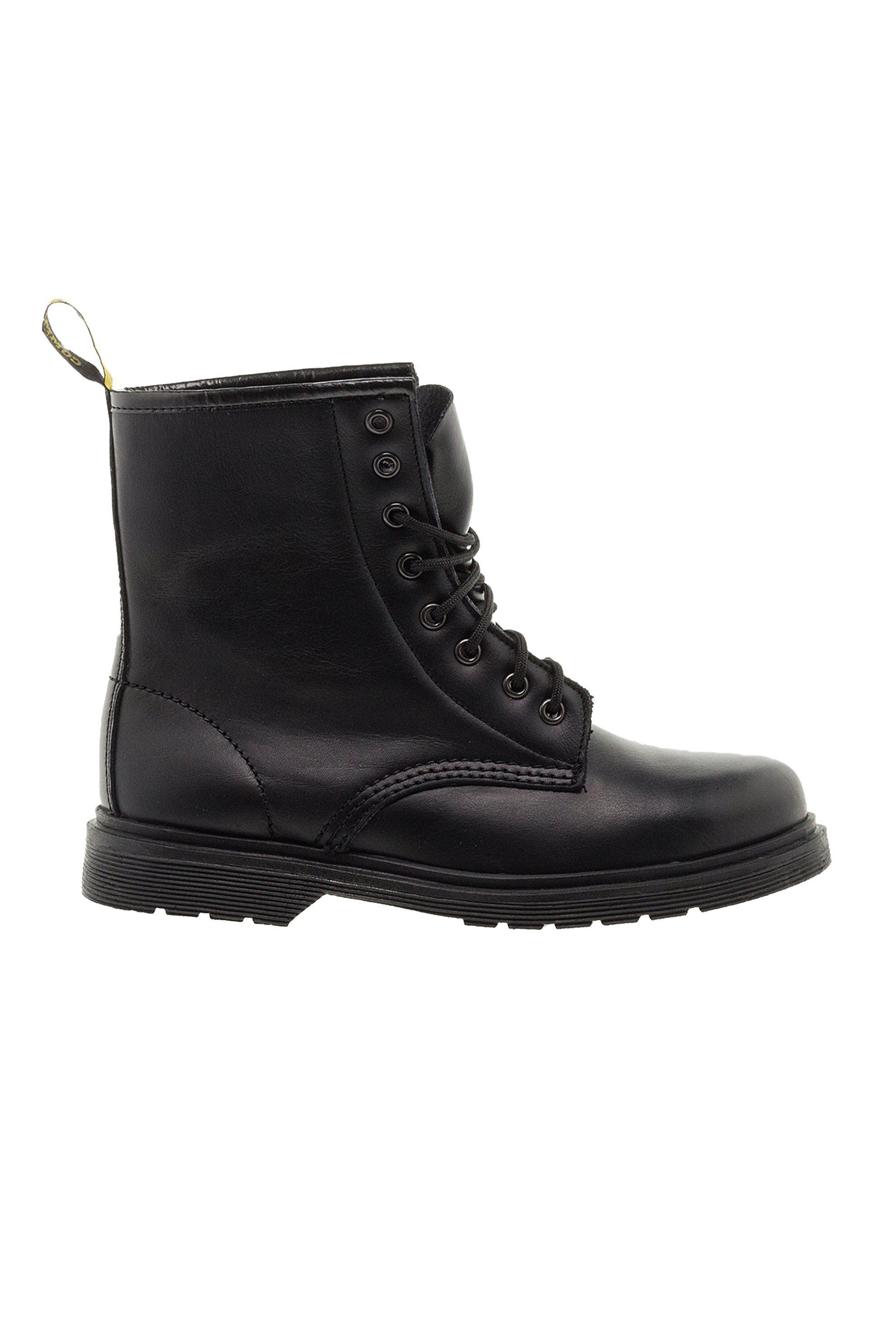 Commanchero γυναικεία δερμάτινα αρβυλάκια με κορδόνια - CΟΜ-5373 Χ18 - Μαύρο γυναικα   παπουτσια   μποτάκια