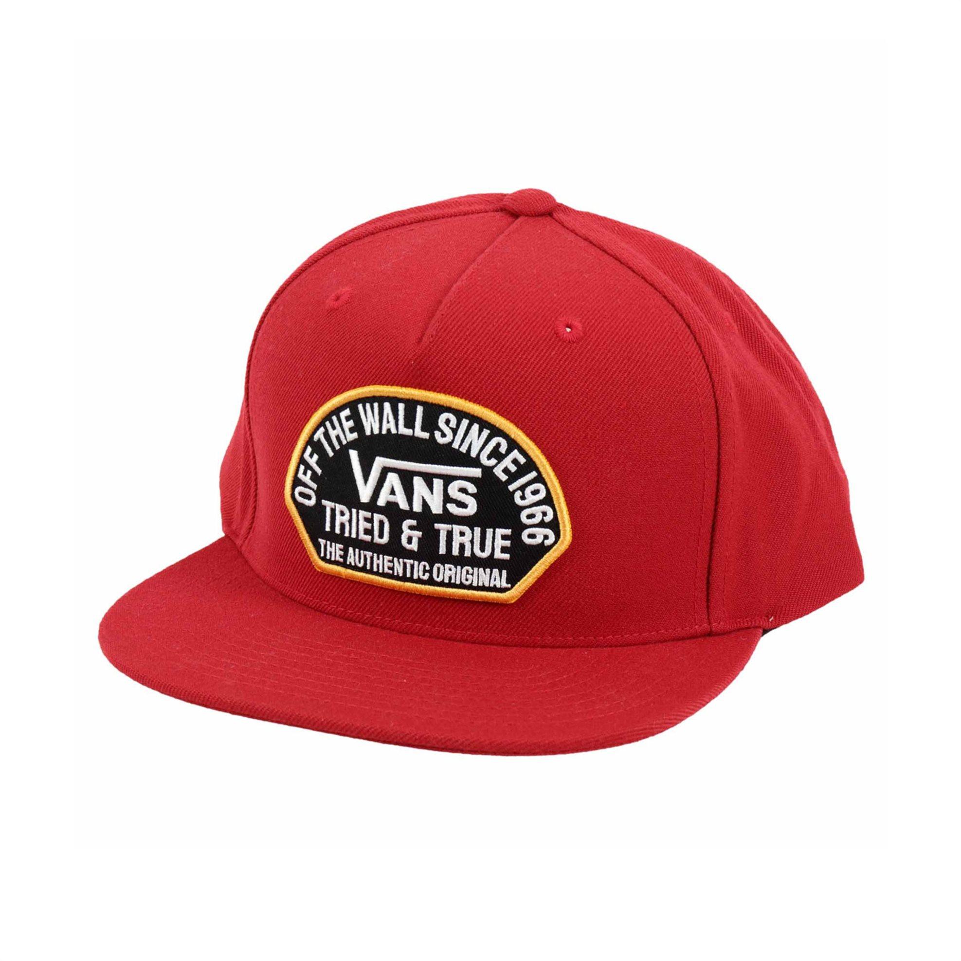 Vans ανδρικό καπέλο με logo patch ''Authentic Og'' - VN0A4TPU14A1 - Κόκκινο
