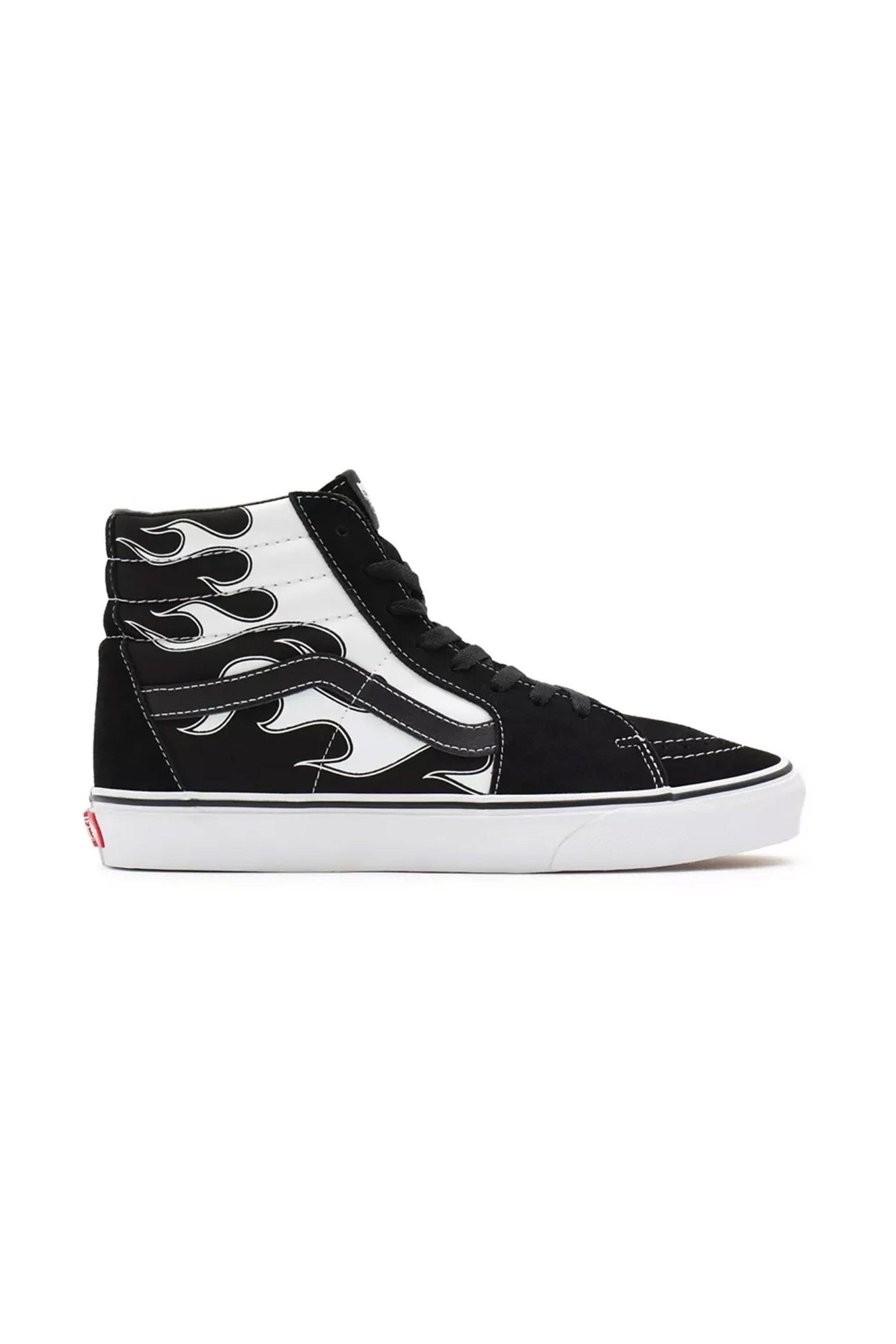 """Vans unisex sneakers μποτάκια suede """"Flame Sk8-Hi"""" – VN0A32QGK681 – Μαυρο"""