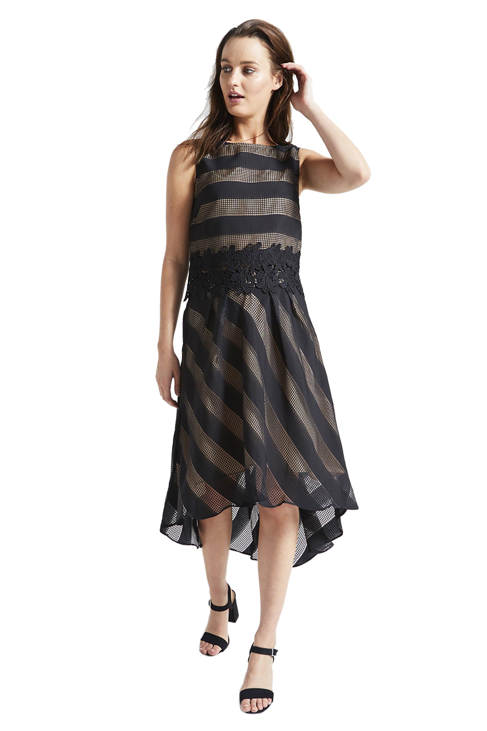 Stock   Midi   Γυναικεία φούστα με ρίγες Emme by Marella ... c92390e0689