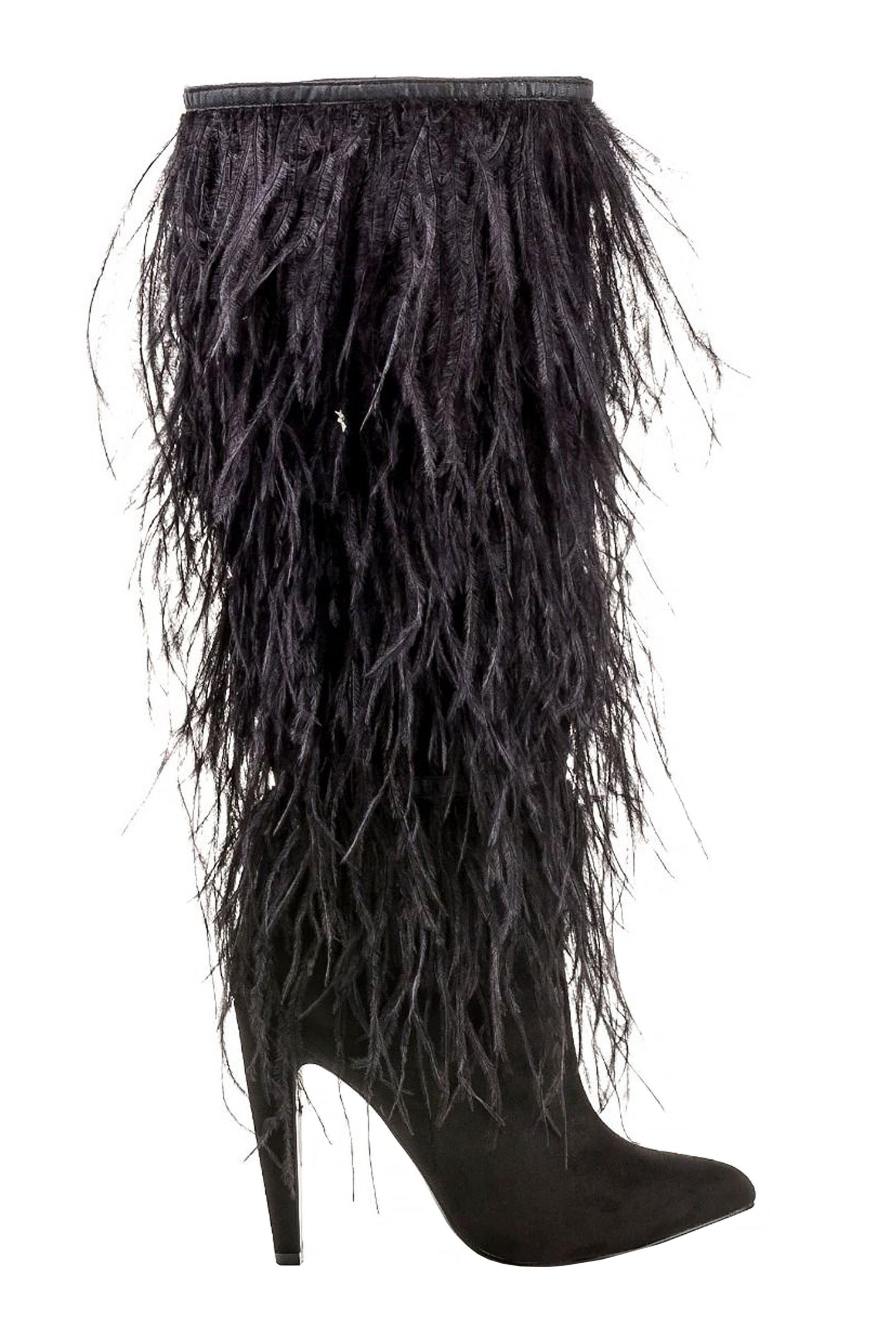 Steve Madden γυναικεία μποτά με φτερά - 218744-ALESANDRA - Μαύρο γυναικα   παπουτσια   μπότες   ως το γόνατο