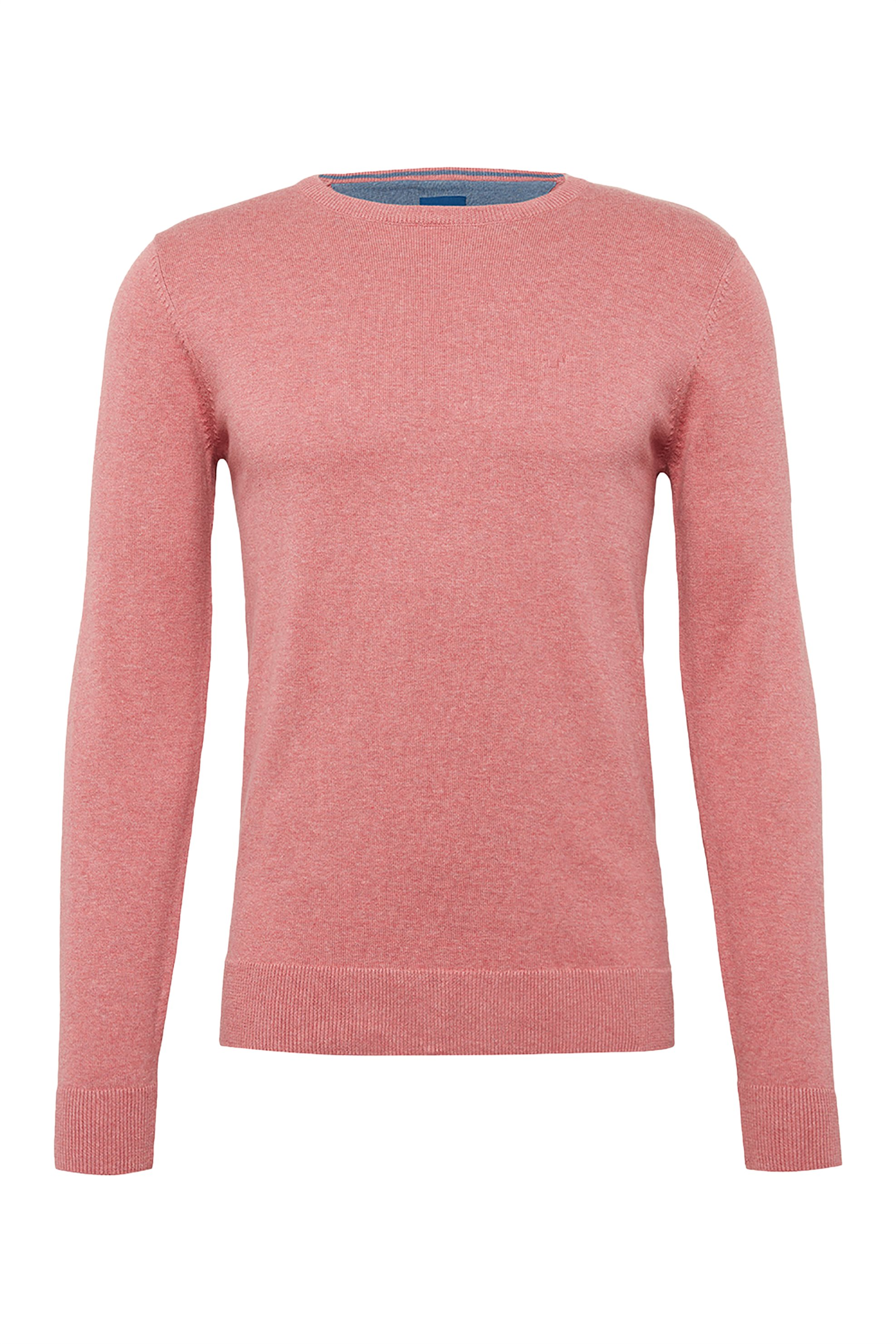 TOM TAILOR ανδρική πλεκτή μπλούζα μονόχρωμη - 1009026 - Κοραλί ανδρασ   ρουχα   πλεκτά   πουλόβερ