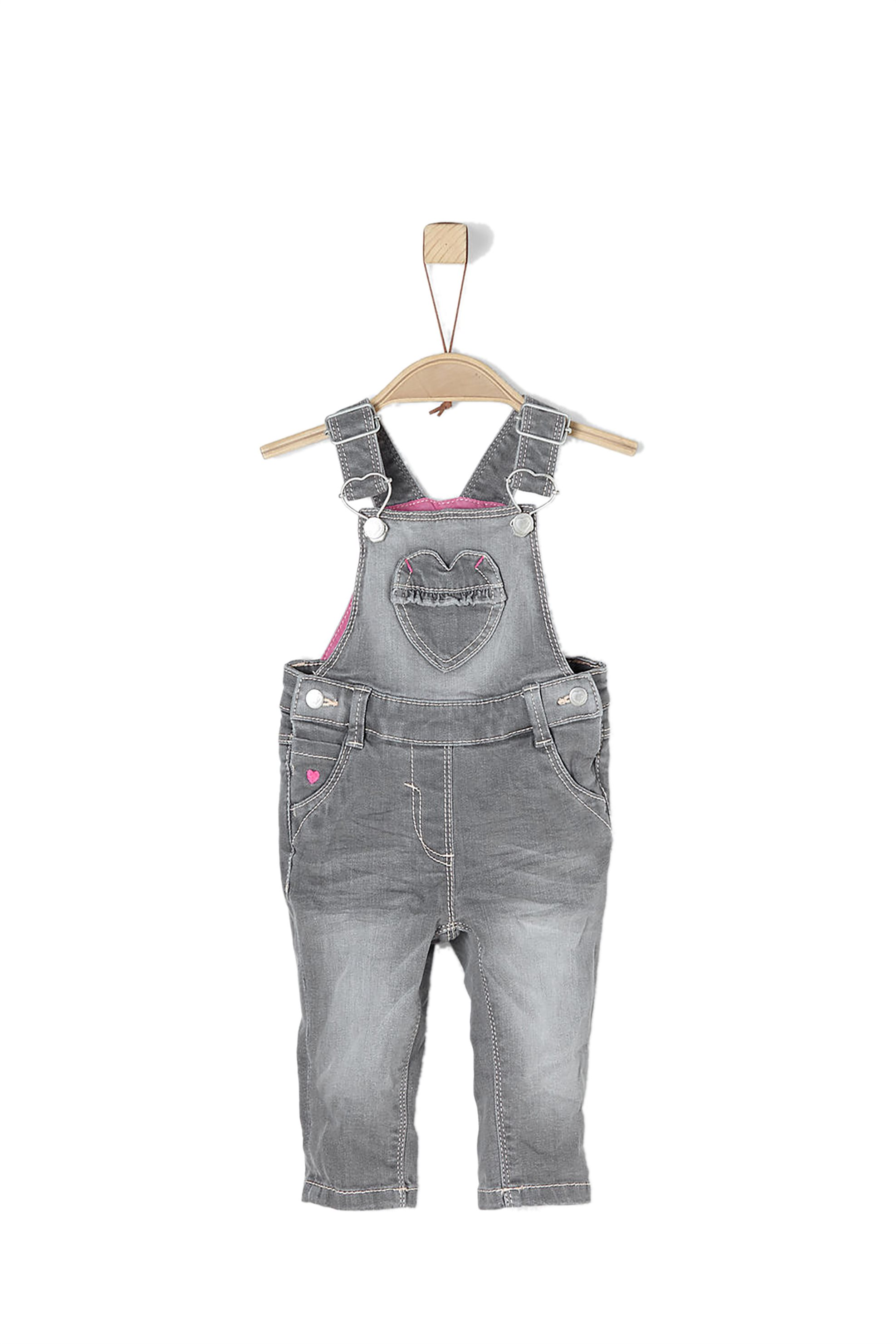 Βρεφική σαλοπέτα denim s.Oliver - 65.802.71.3142 - Γκρι παιδι   βρεφικα κοριτσι   0 3 ετων   ρούχα   σαλοπέτες