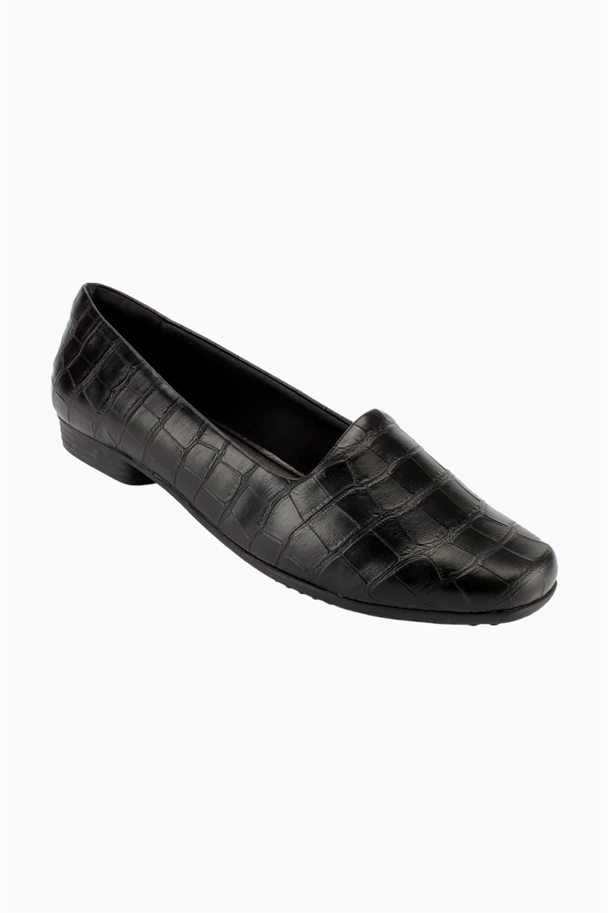 Piccadilly γυναικεία ανατομικά loafers croco – 25013200000247 – Μαύρο