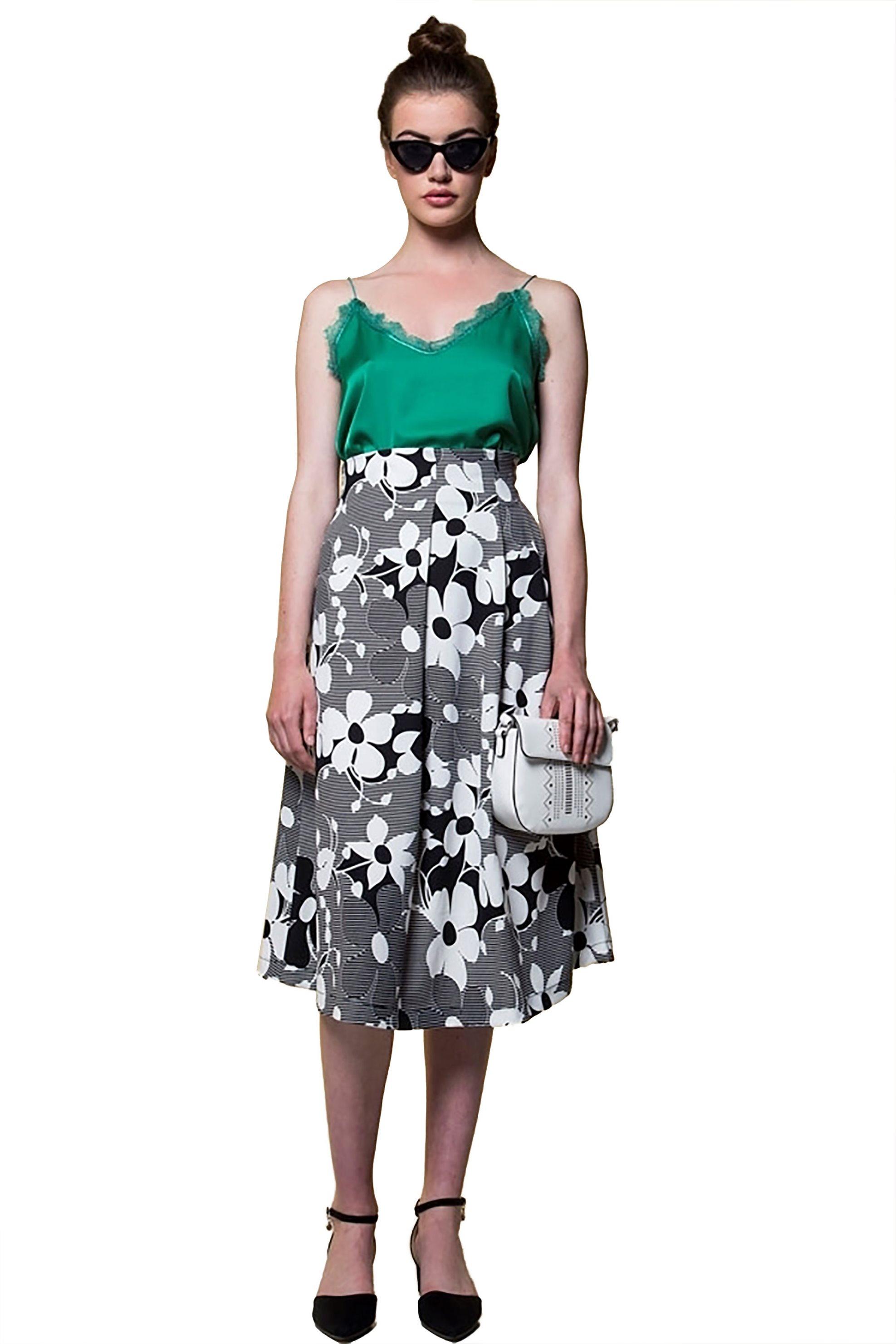 Stock   Midi   Γυναικεία φούστα με ρίγες Emme by Marella ... ddbe7c118a9