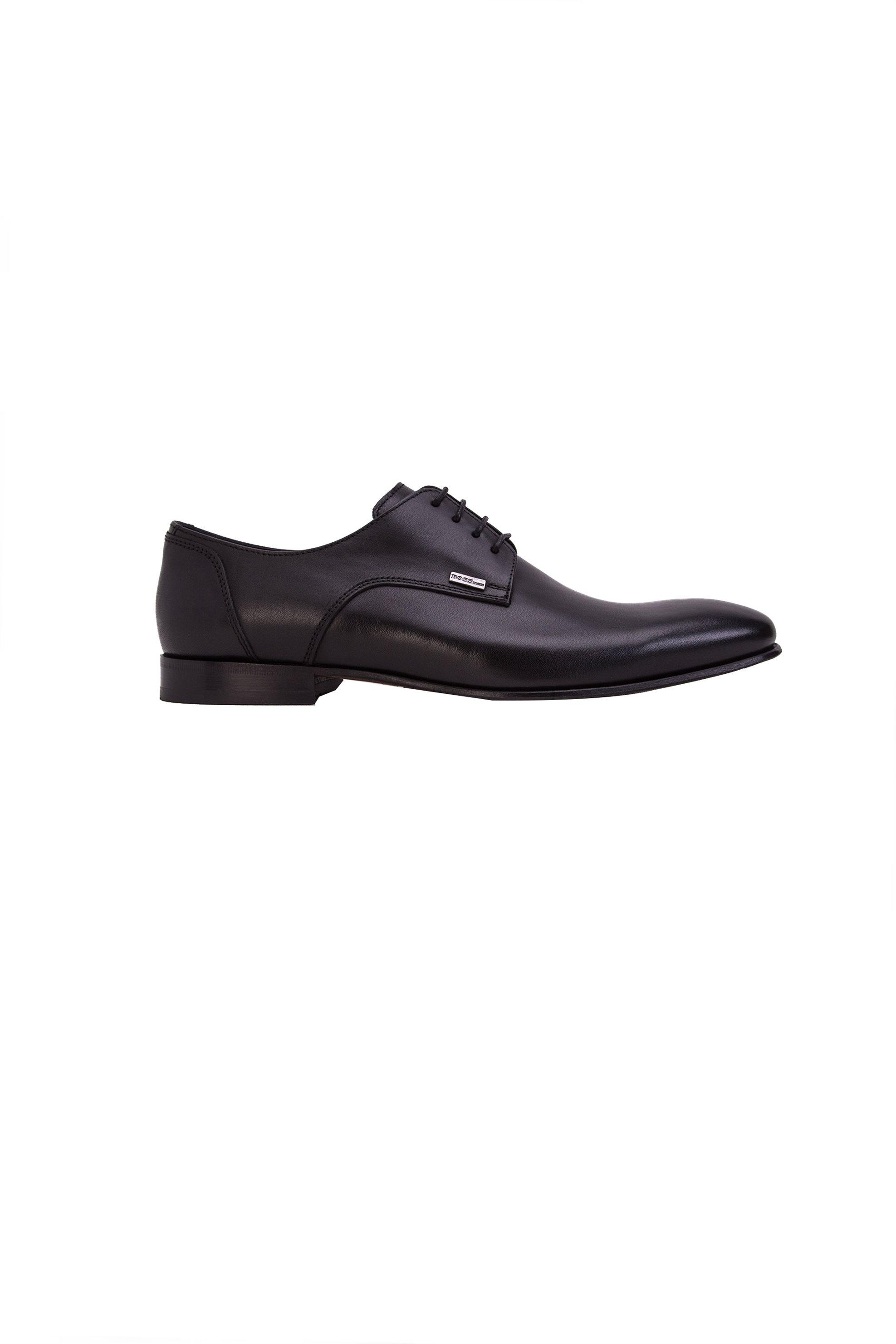 Ανδρικά δερμάτινα σκαρπίνια Boss - J4972 - Μαύρο ανδρασ   παπουτσια   σκαρπίνια   oxford