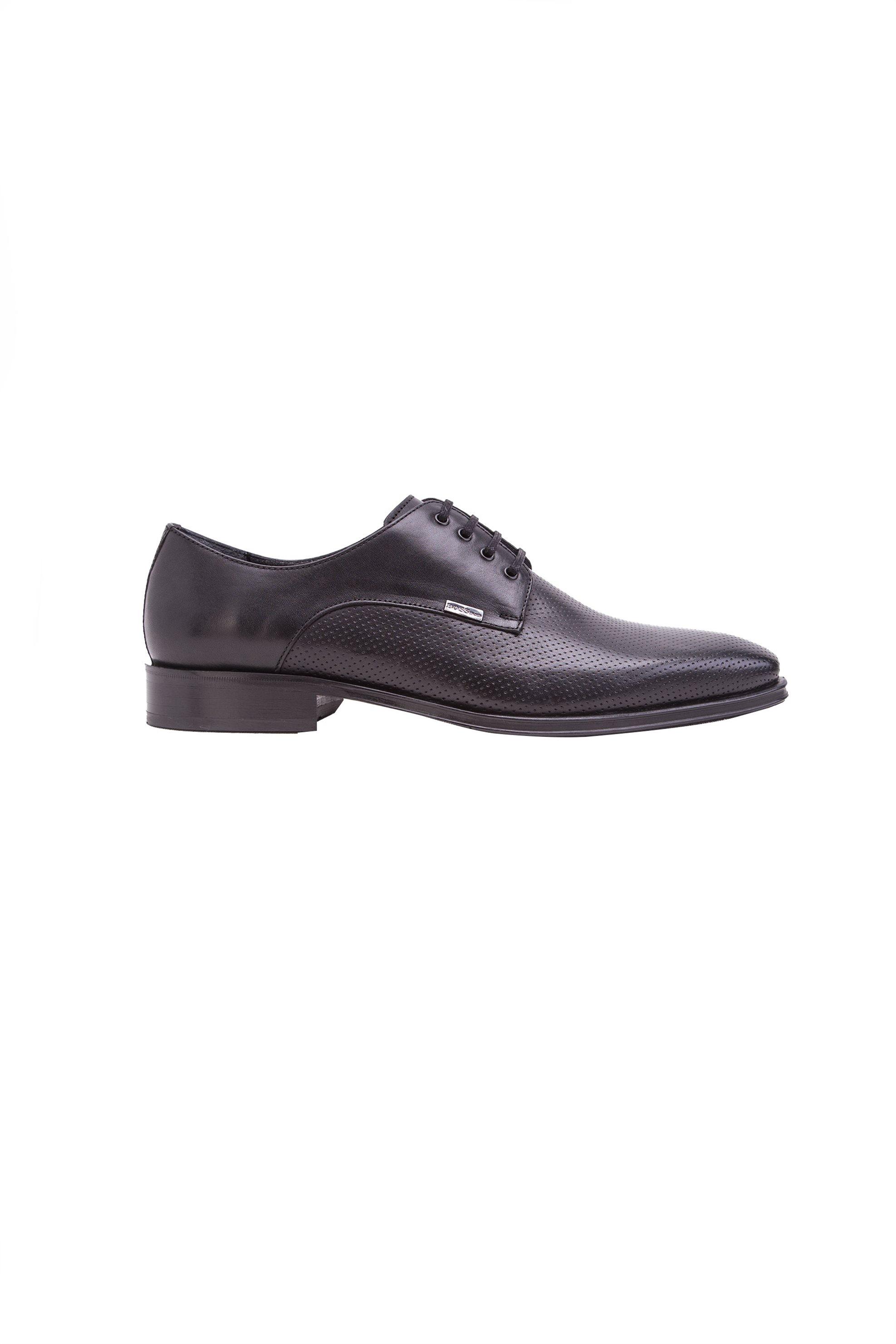 Ανδρικά σκαρπίνια Boss - J5534PERFO - Μαύρο ανδρασ   παπουτσια   σκαρπίνια   oxford