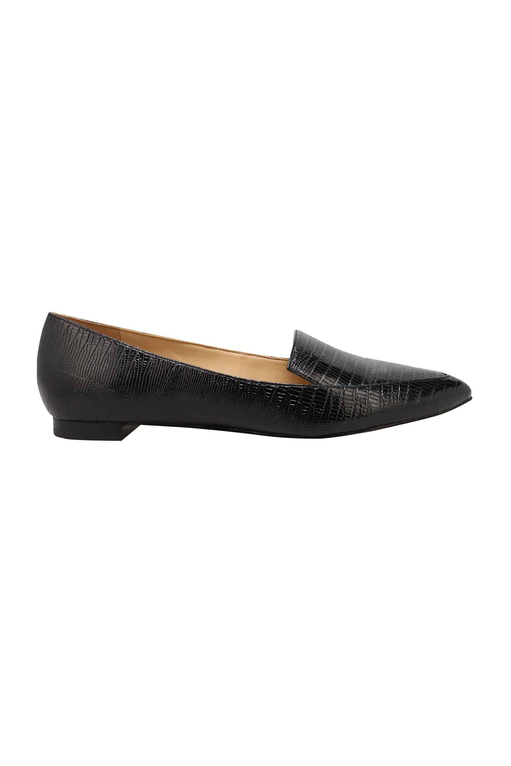 "Nine West γυναικεία flat παπούτσια με croco print ""Abay"" – ABAY3 TX – Μαύρο"