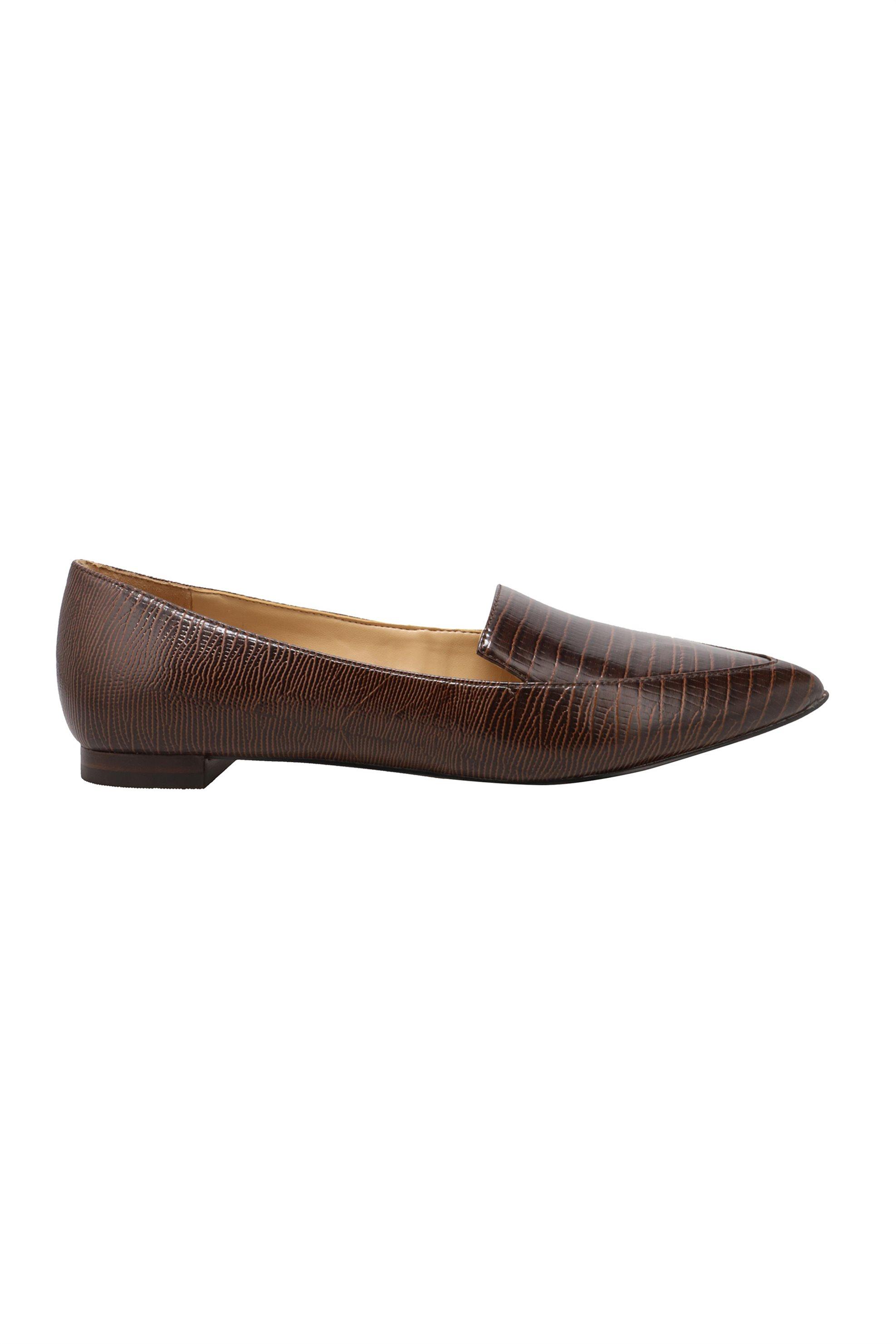 "Nine West γυναικεία flat παπούτσια με croco print ""Abay"" – ABAY3 TX – Καφέ"