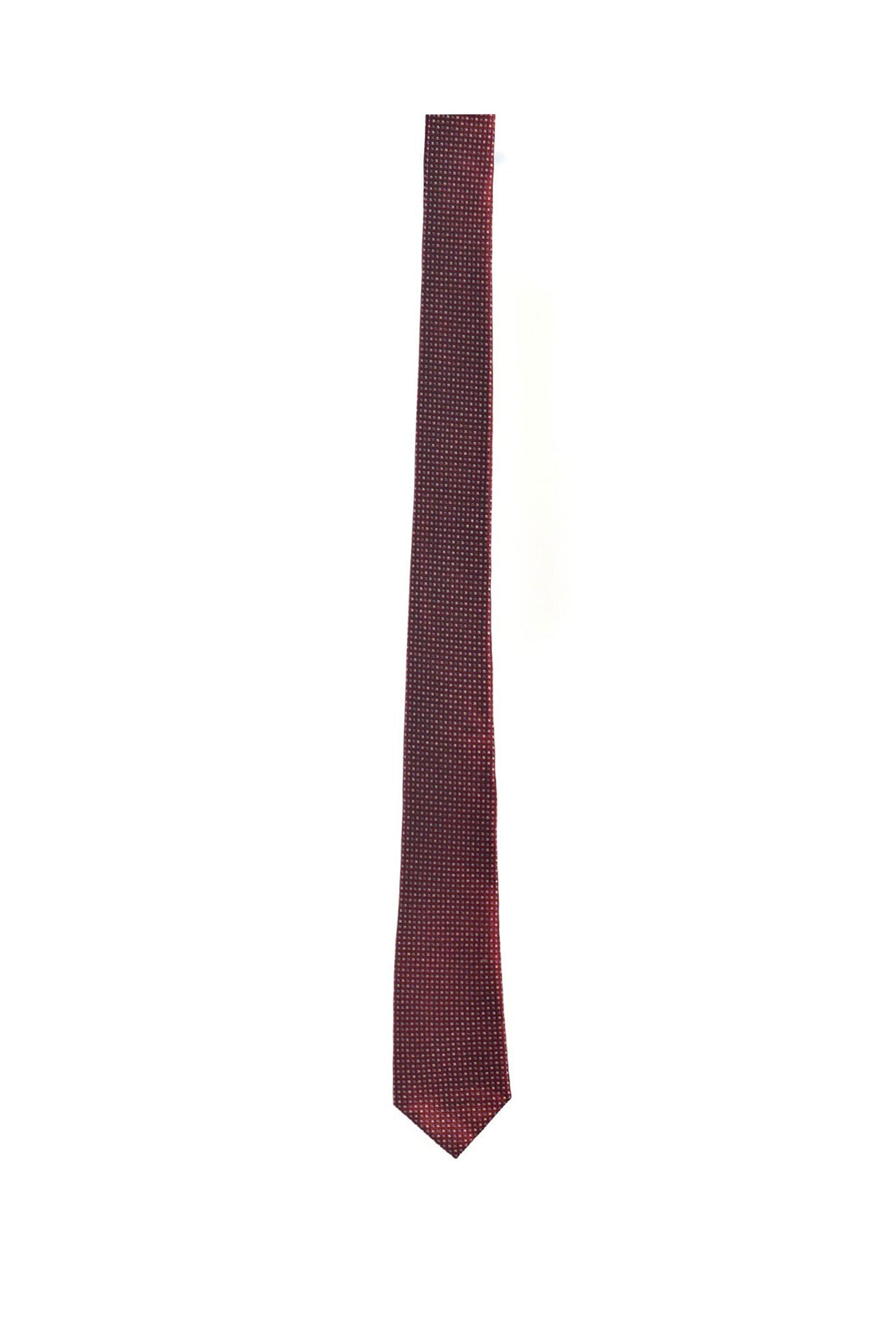 Vardas ανδρική μεταξωτή γραβάτα με πουά μικροσχέδιο - 2052005344207 - Μπορντό
