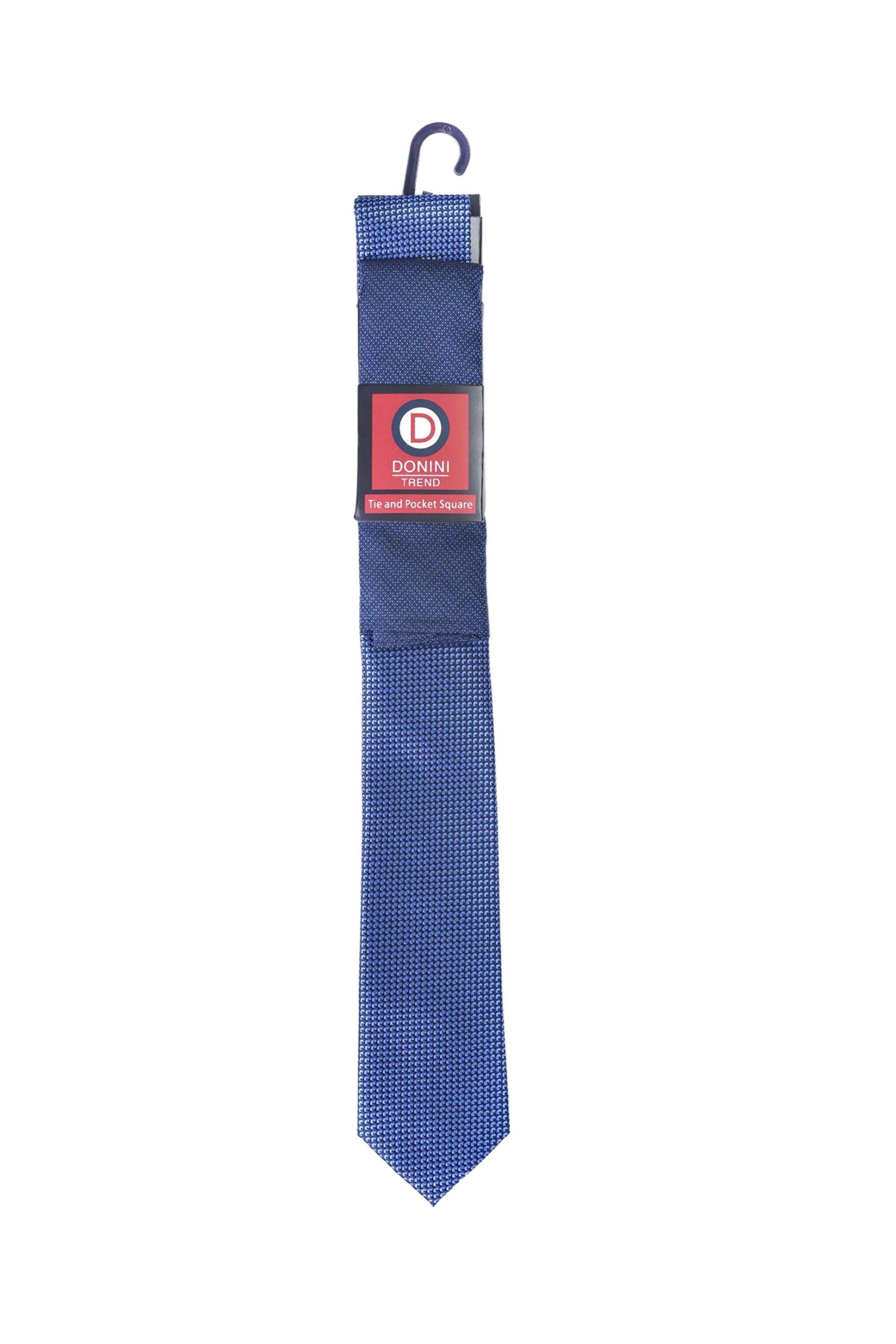 Vardas ανδρικό σετ γραβάτα και μαντηλάκι - 2062000380101 - Μπλε