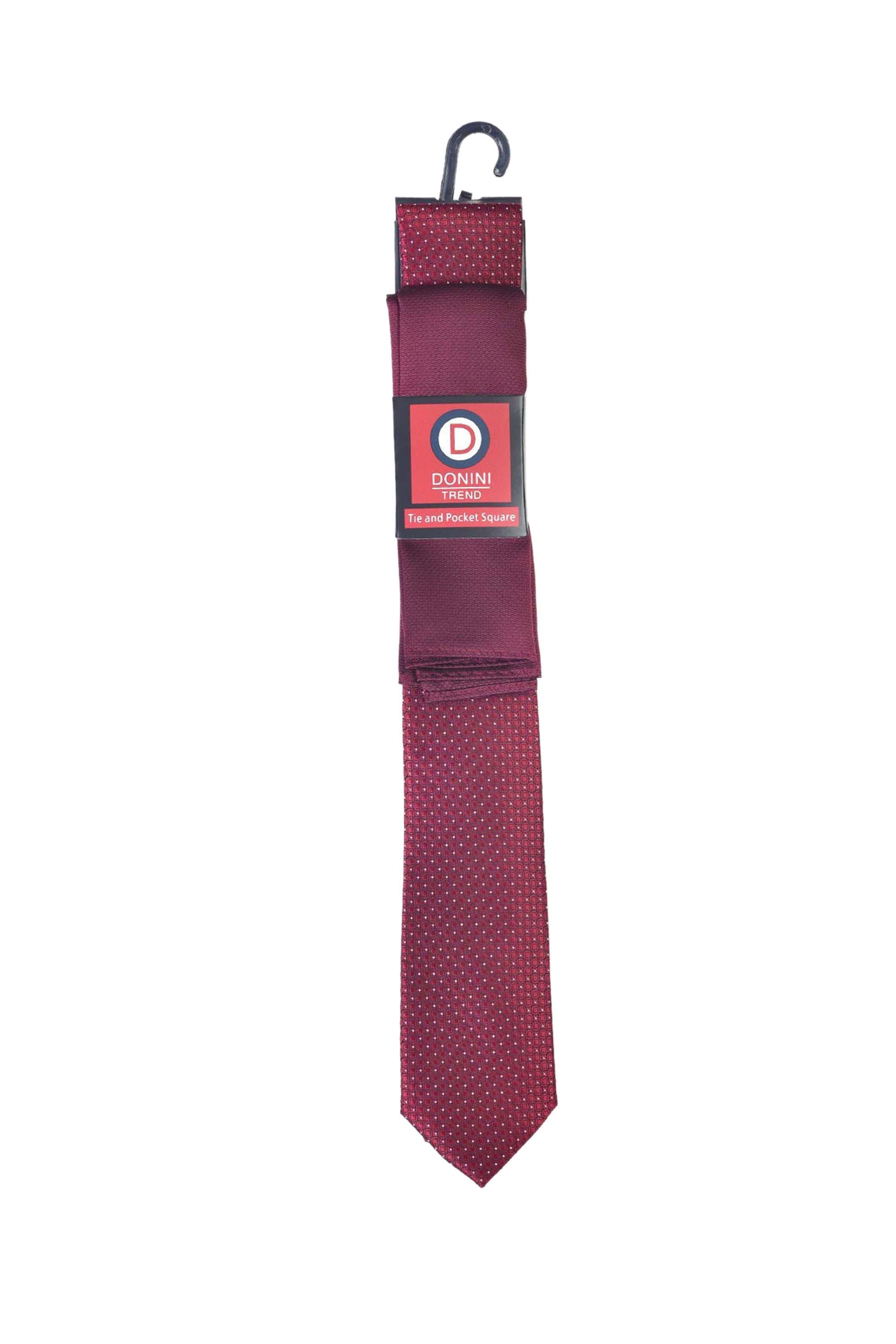 Vardas ανδρικό σετ γραβάτα και μαντηλάκι - 2062000414201 - Μπορντό