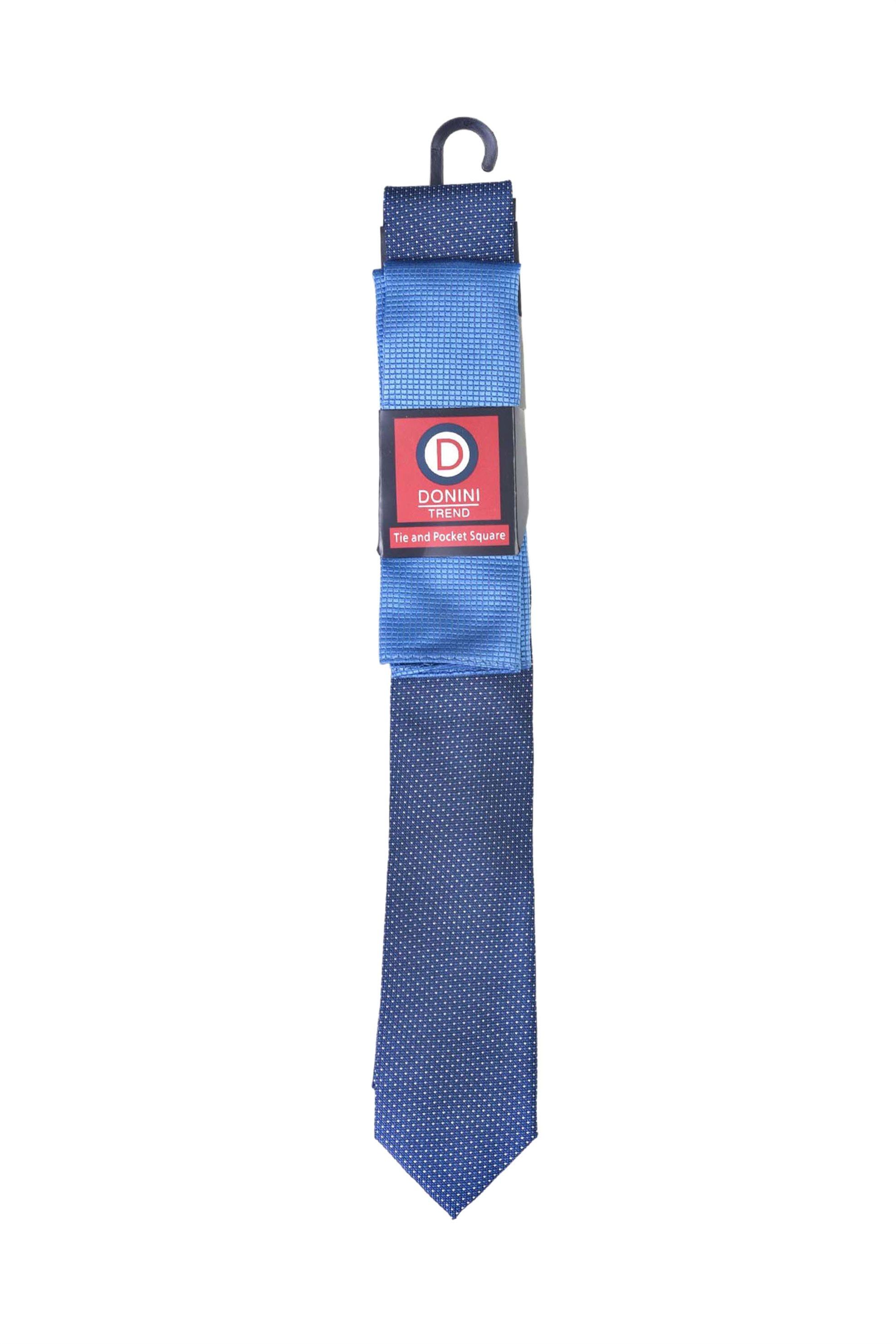 Vardas ανδρικό σετ γραβάτα και μαντηλάκι - 2062000430201 - Μπλε Ανοιχτό