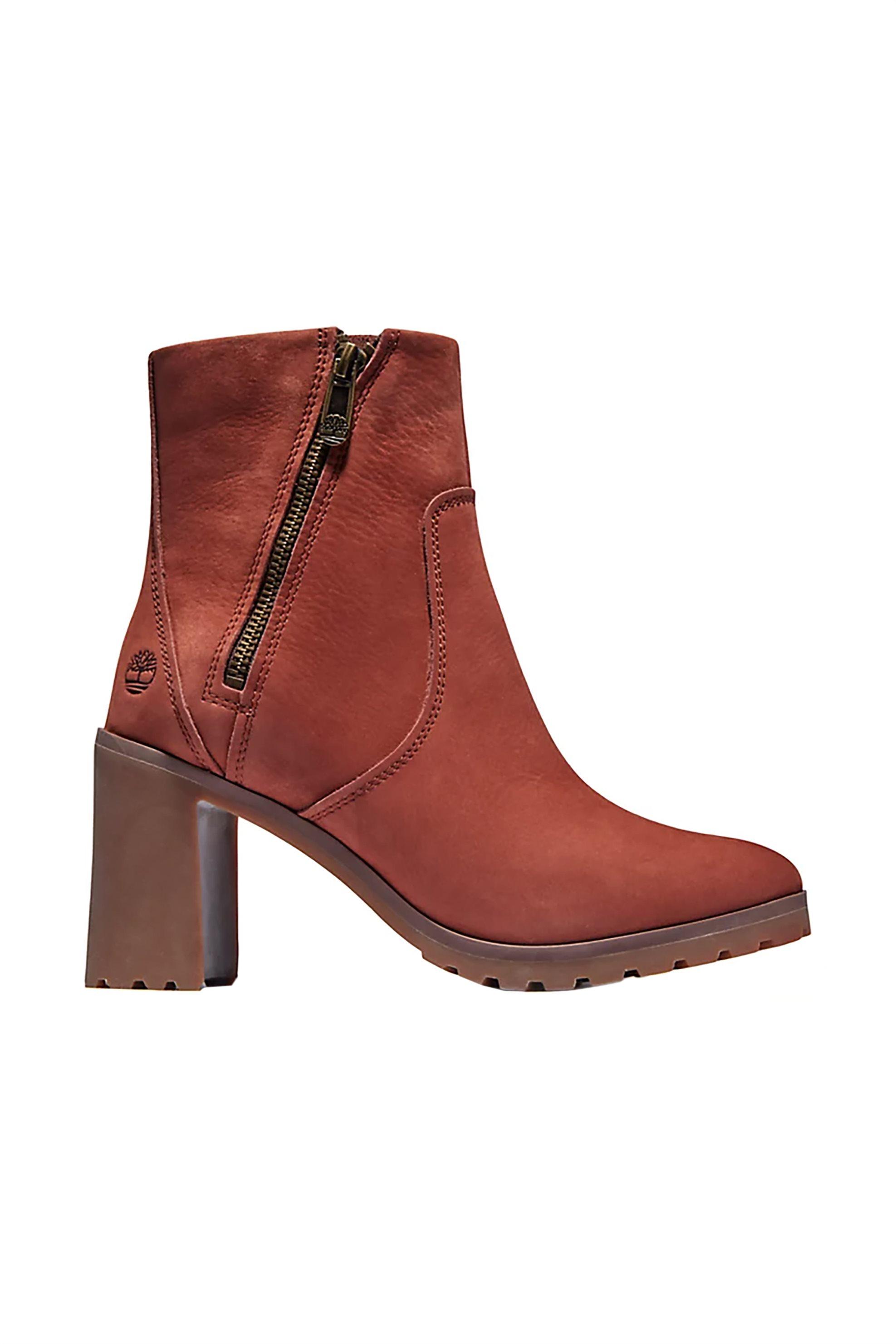 "Timberland γυναικεία δερμάτινα μποτάκια ""Allington Ankle"" – TB0A2511CH71 – Κεραμιδί"