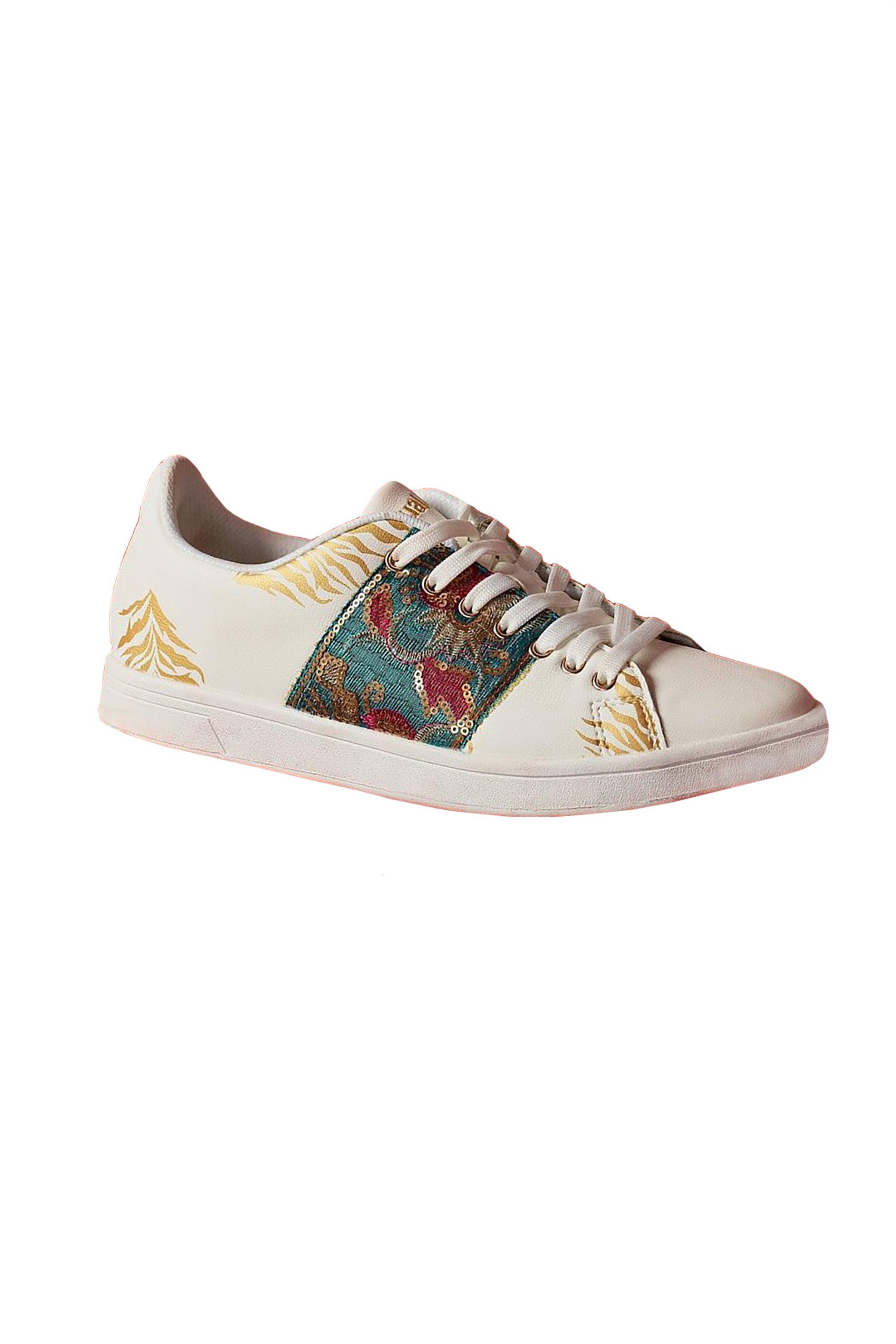 eb4f5203e49 Desigual γυναικεία sneakers Cosmic Exotic Tropical - 19SSKP11 - Λευκό