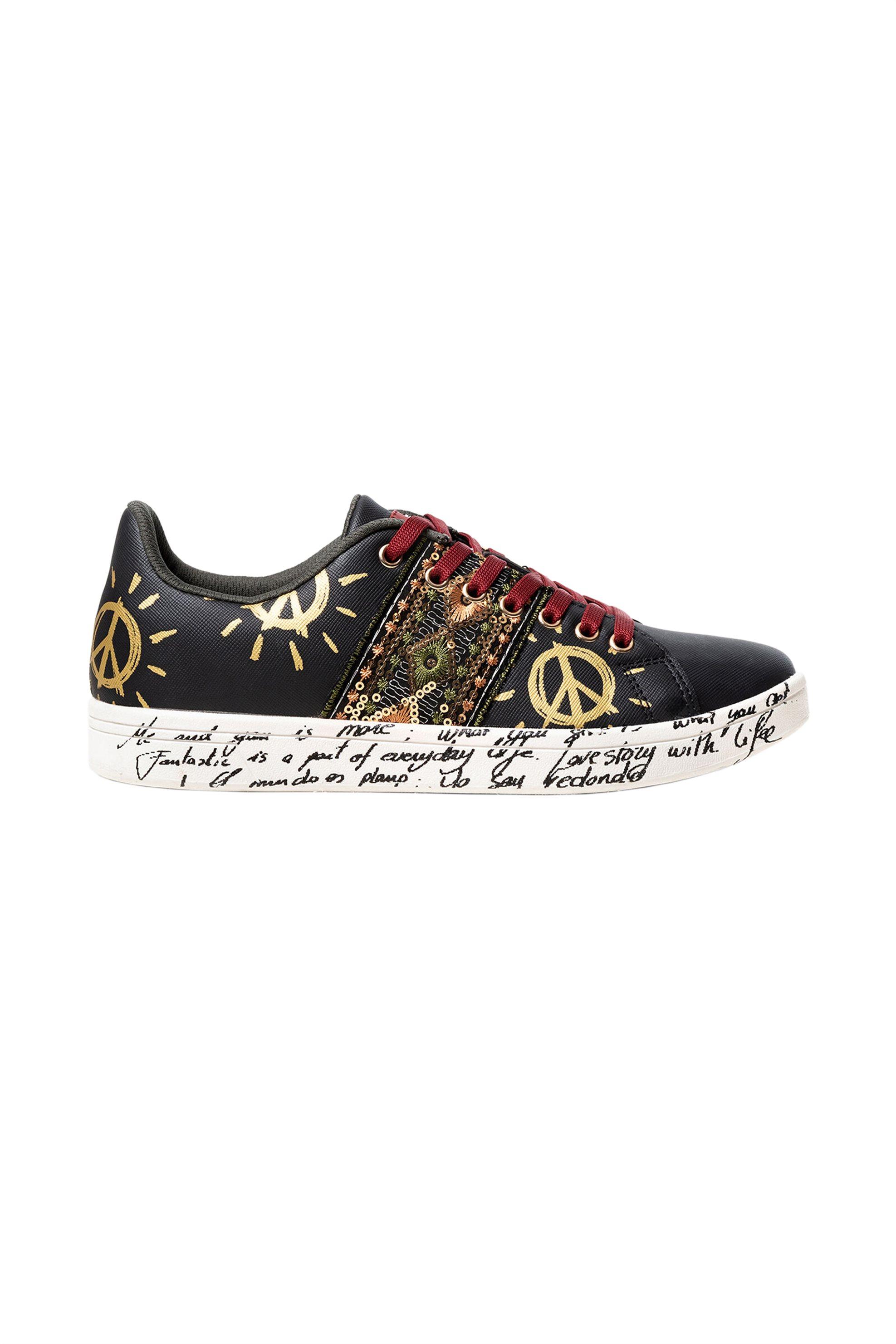 Desigual γυναικεία sneakers με ethnic print
