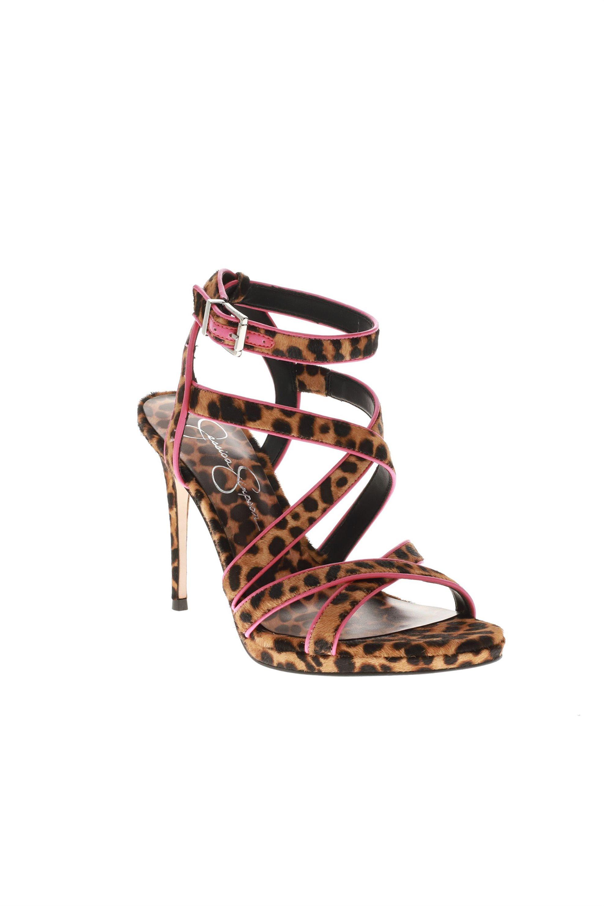 65923f5d2a8 Notos Jessica Simpson γυναικεία ψηλοτάκουνα πέδιλα με animal print –  KENDELE SPLPHC – Μπεζ