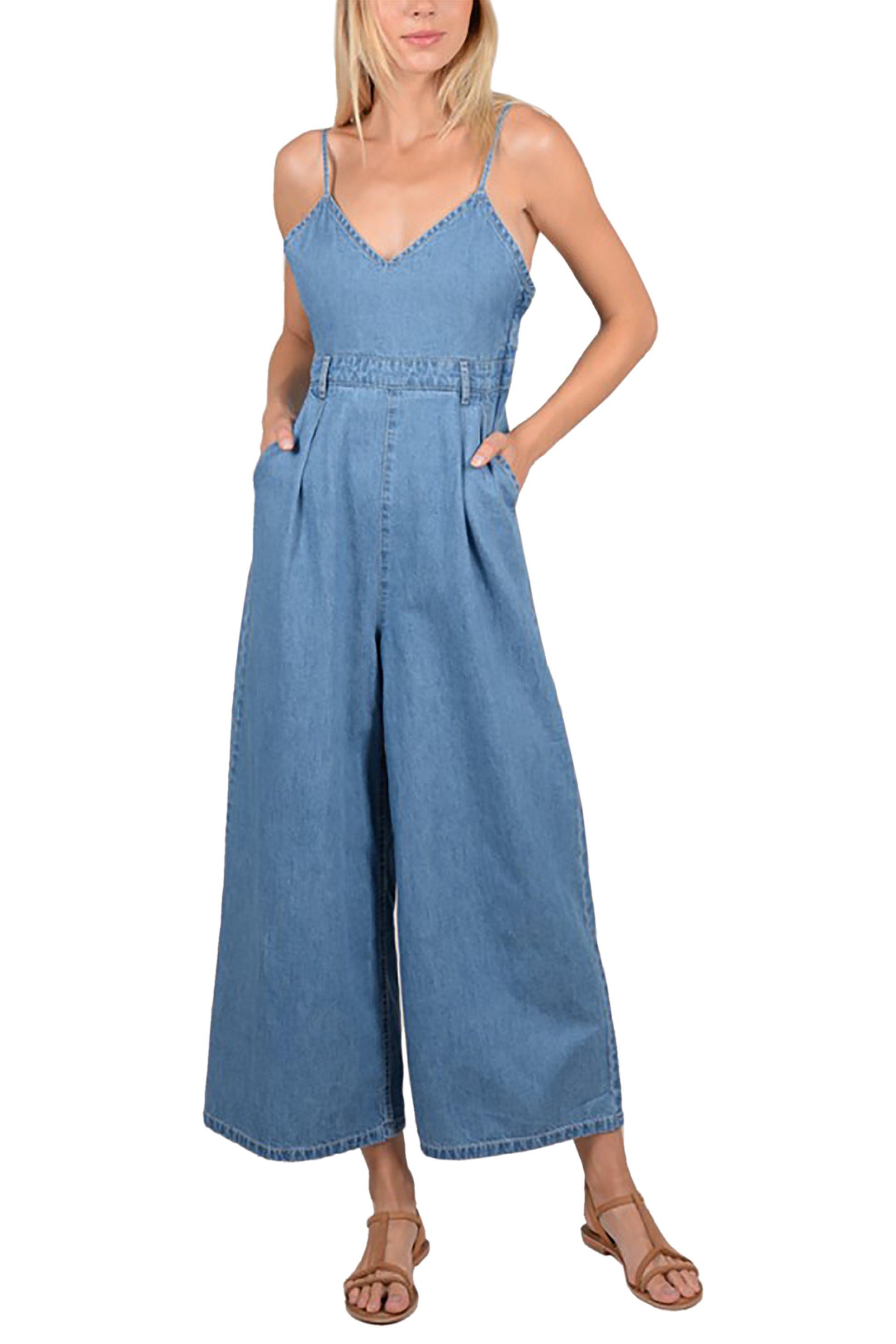 Molly Bracken γυναικεία denim ολόσωμη φόρμα - S19MB-E1105 - Μπλε γυναικα   ρουχα   ολόσωμες φόρμες   σαλοπέτες