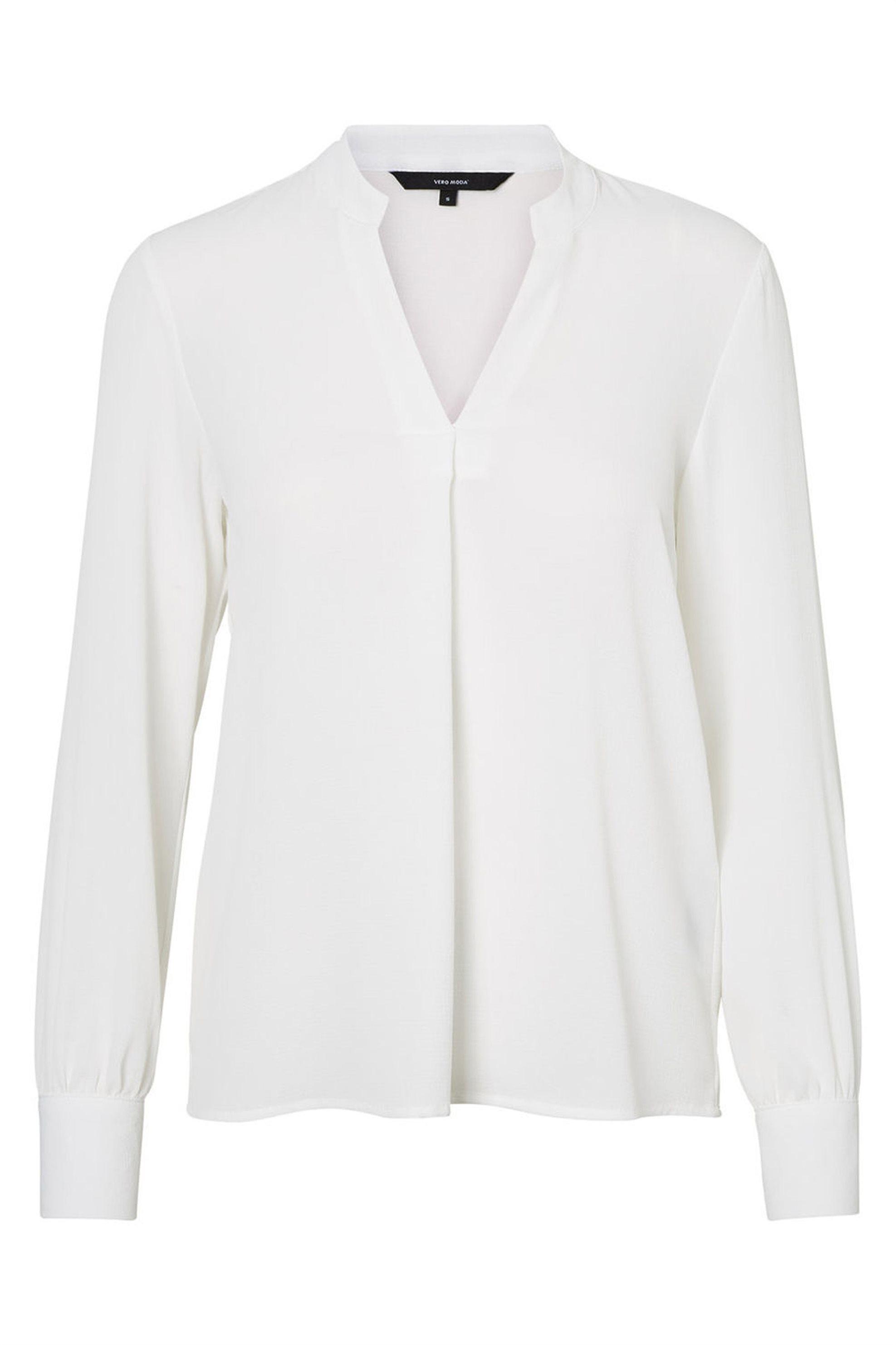 VERO MODA γυναικεία μπλούζα με V λαιμόκοψη - 10193170 - Λευκό γυναικα   ρουχα   tops   πουκάμισα   casual