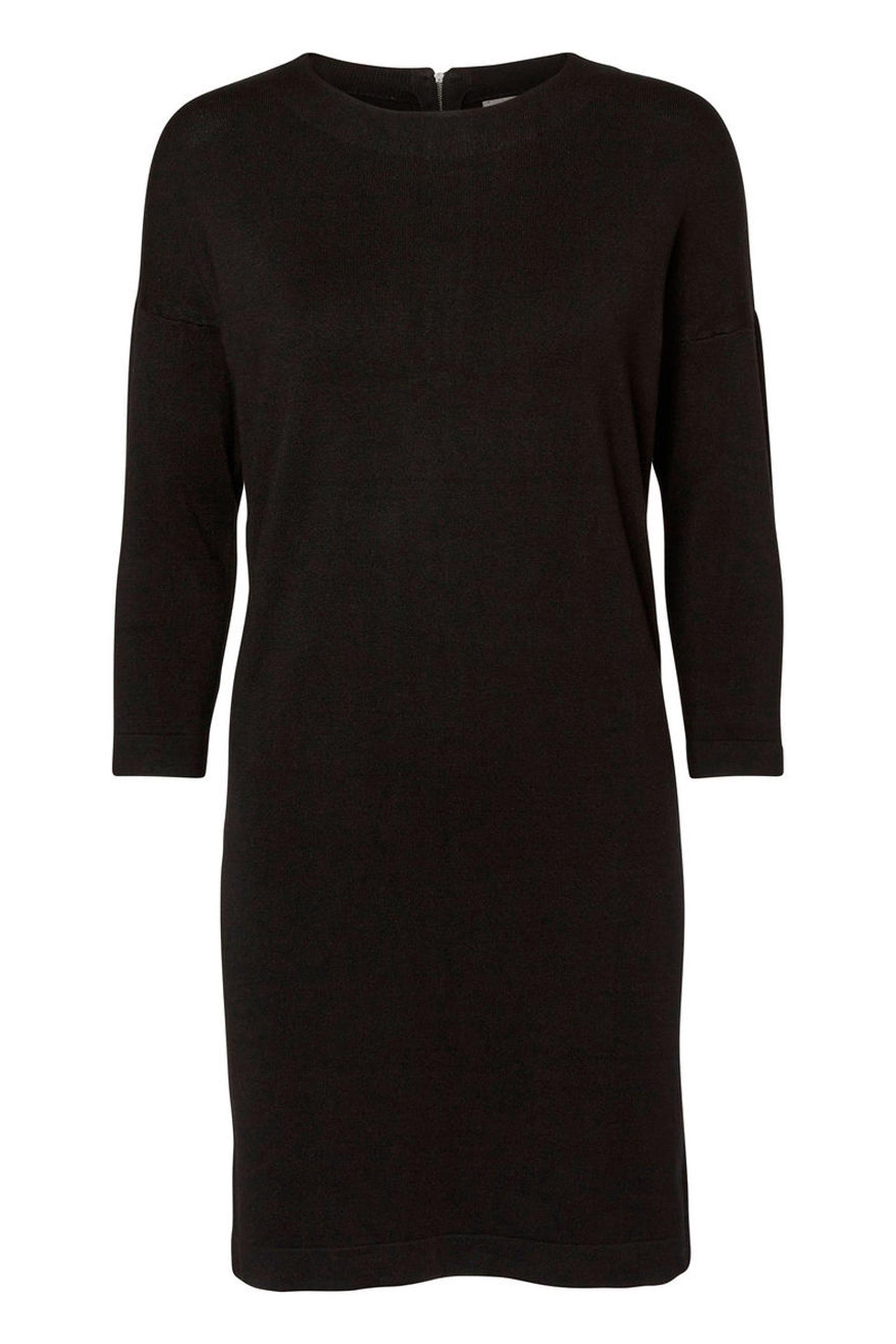 VERO MODA γυναικείο φόρεμα μαύρο με 3/4 μανίκια - 10137034 - Μαύρο γυναικα   ρουχα   φορέματα   mini φορέματα