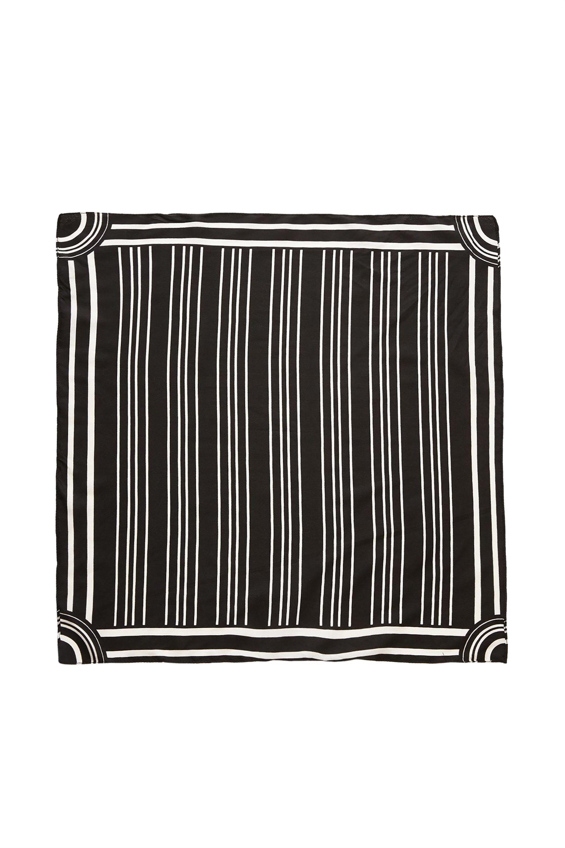 PIECES γυναικείo ασπρόμαυρο φουλάρι με ρίγες - 17096413 - Μαύρο γυναικα   αξεσουαρ   κασκόλ   μαντήλια