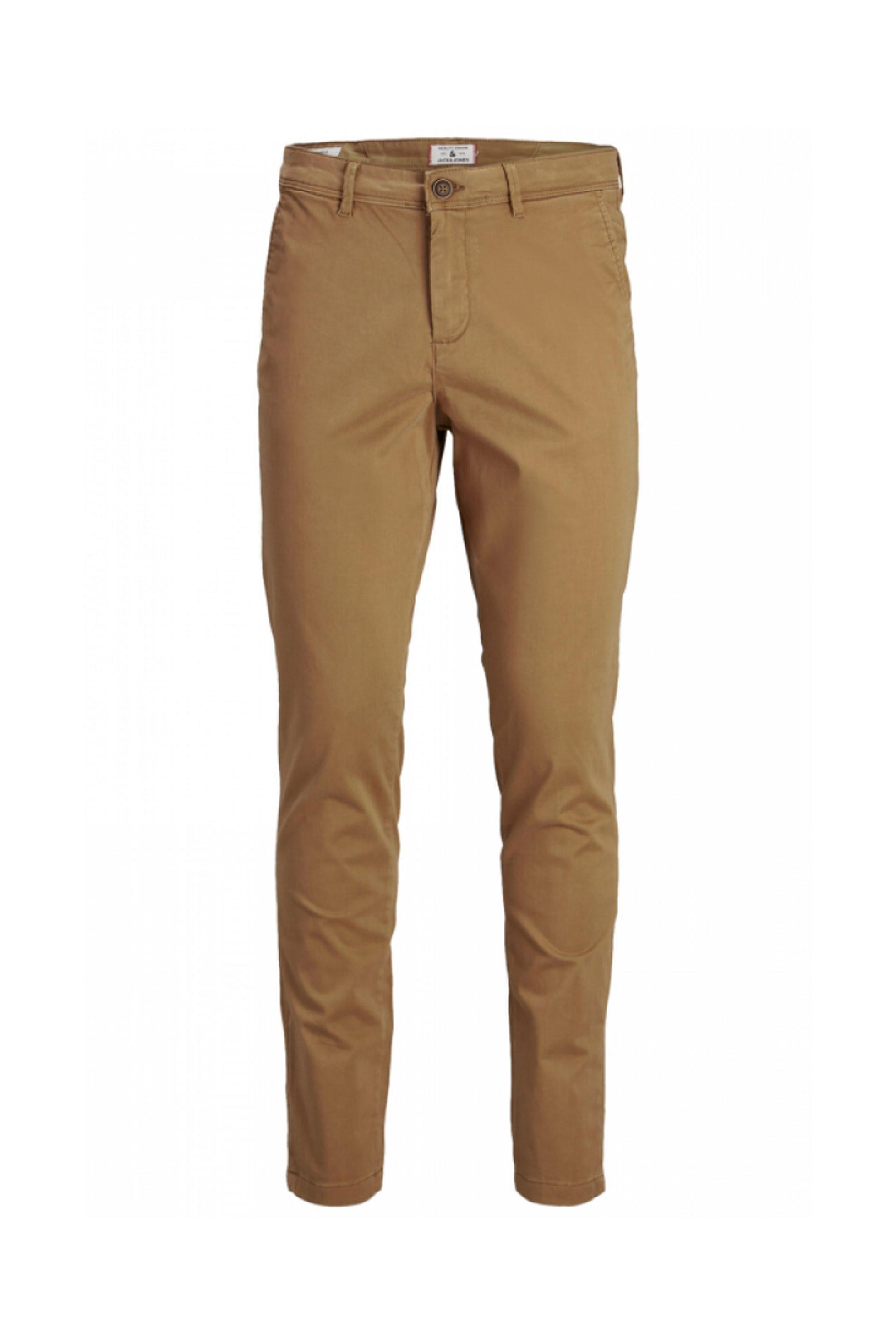 JACK & JONES ανδρικό chino παντελόνι μονόχρωμο - 12175969 - Μπεζ