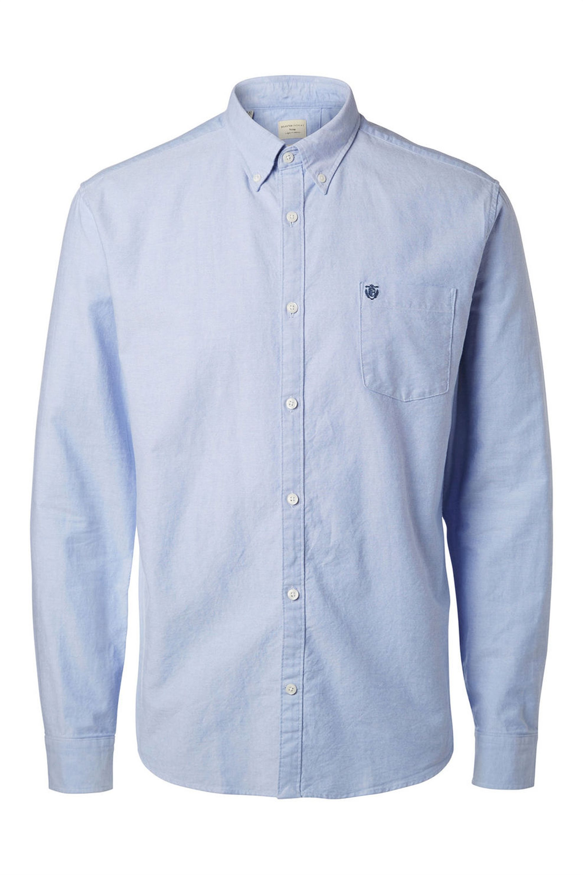 5b42b58b5a21 SELECTED ανδρικό πουκάμισο Oxford - 16040493 - Γαλάζιο