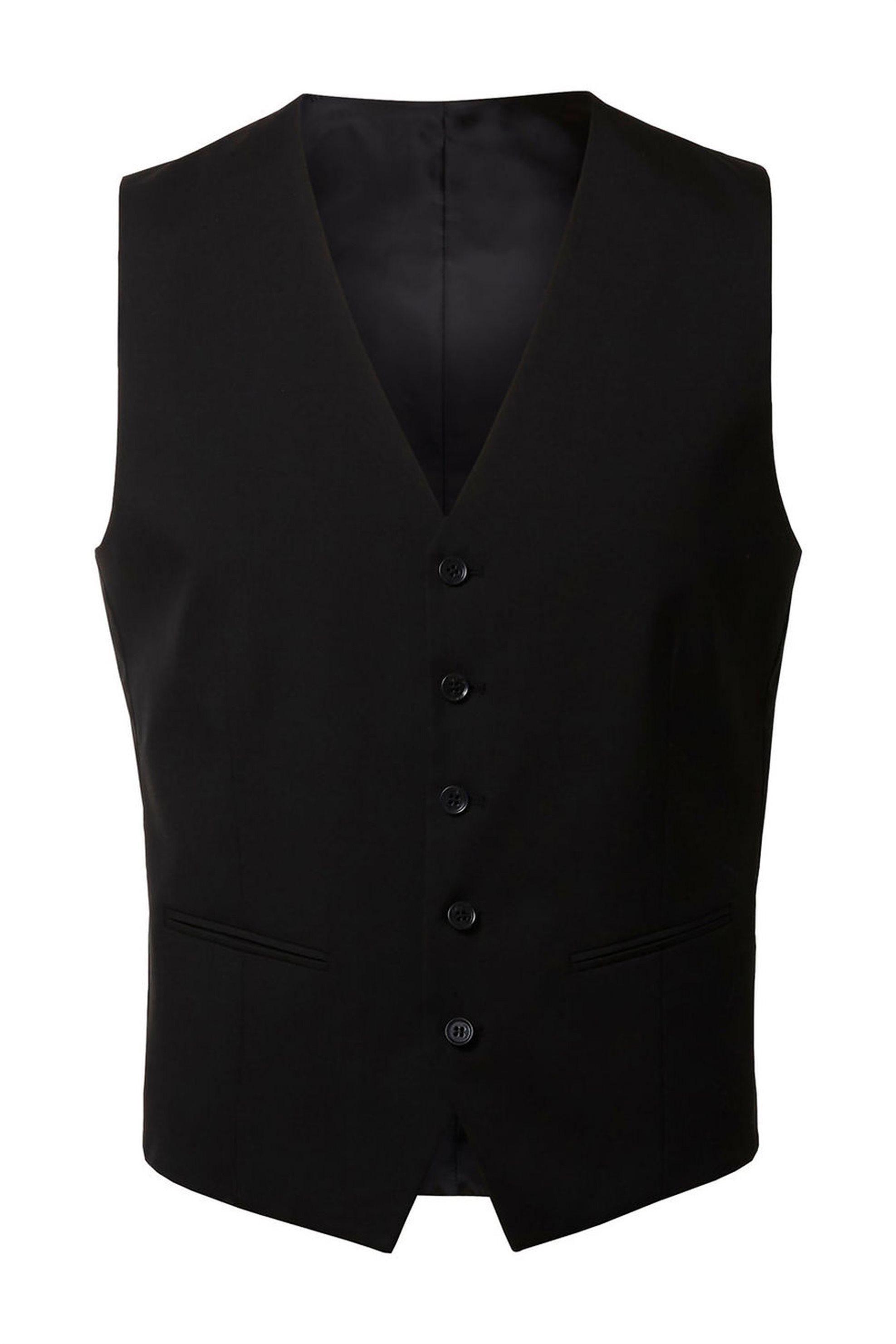 SELECTED ανδρικό γιλέκο με κουμπιά Slim fit - 16052660 - Μαύρο ανδρασ   ρουχα   κοστούμια   γιλέκα