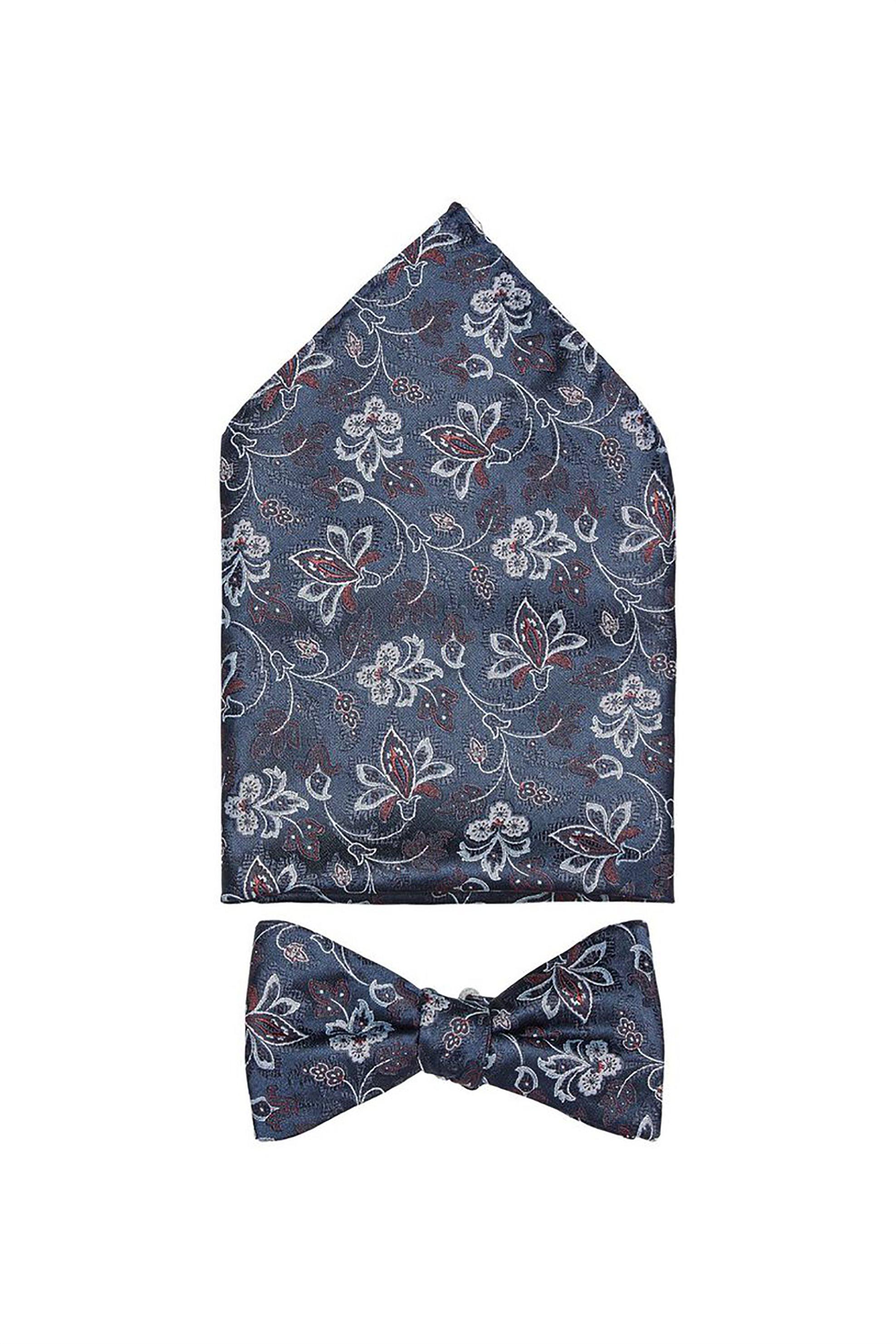 Selected ανδρική γραβάτα με print - 16069269 - Μπλε Σκούρο