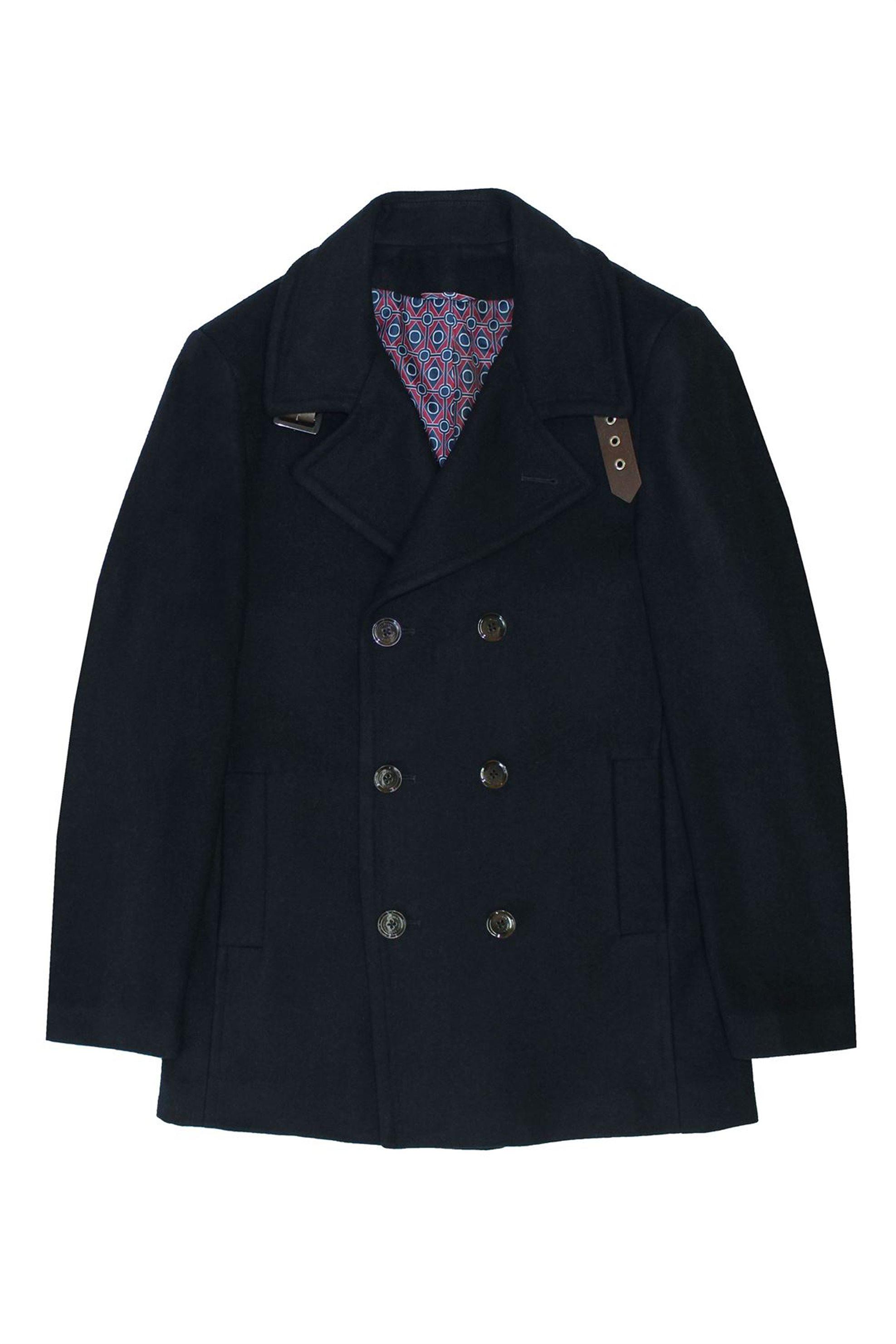 DORS Ανδρικό Παλτό Με Κουμπιά Και Γιακά Με Αγκράφα - 3325002.C1 - Μπλε Σκούρο