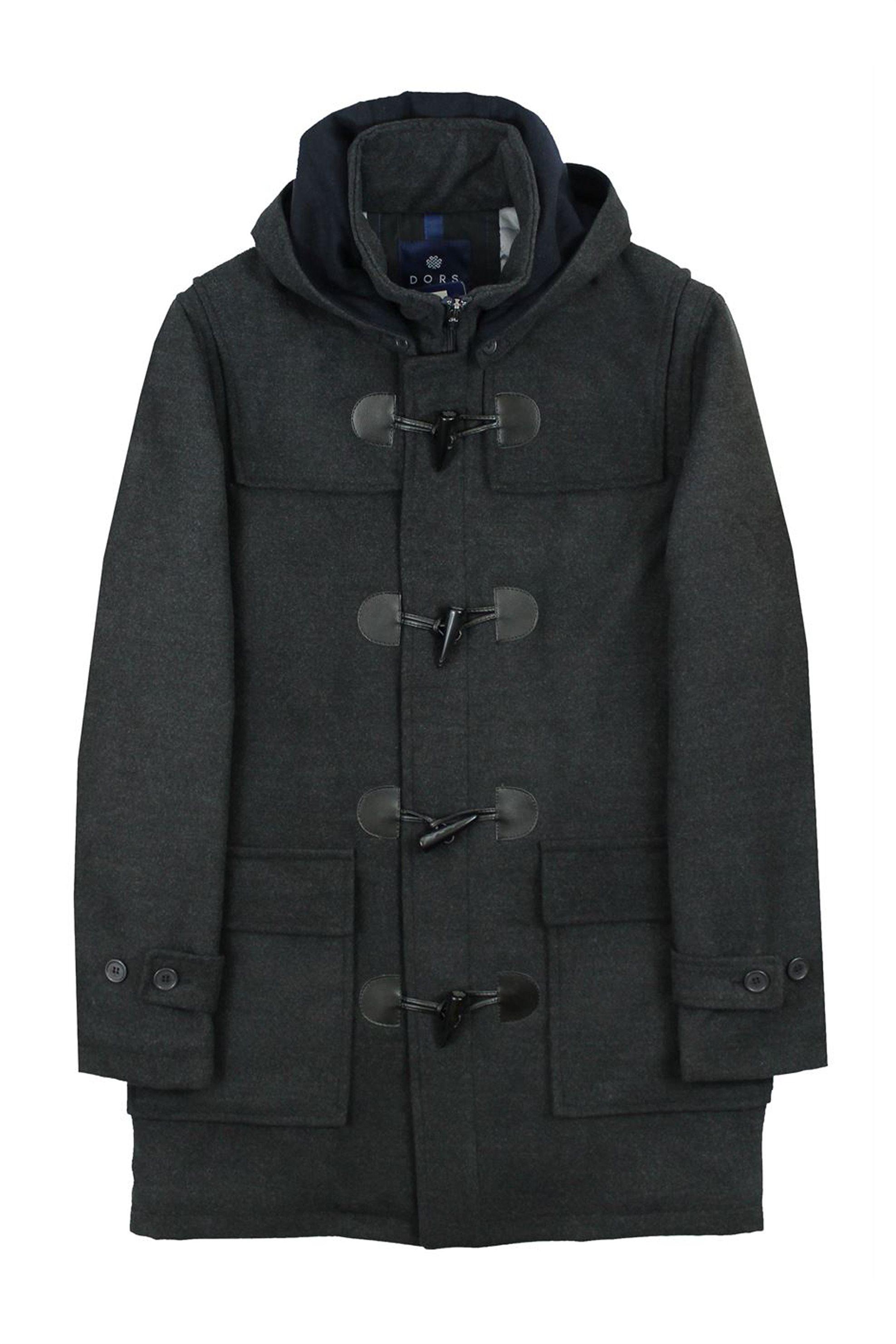 ba1931611543 Notos DORS ανδρικό μάλλινο παλτό μοντγκόμερι - 3325004.C2 - Ανθρακί