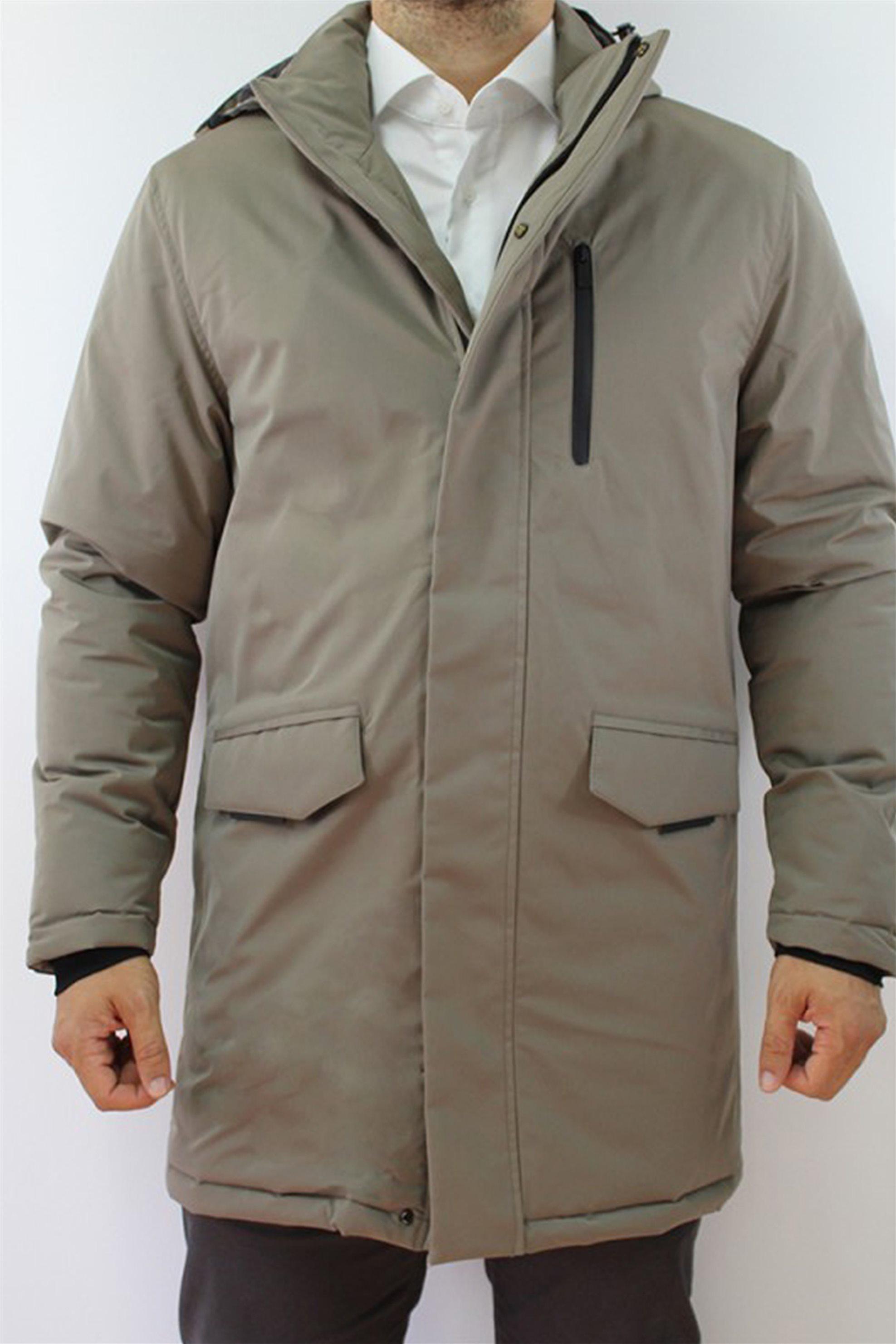 DORS ανδρικό μπουφάν παρκά αδιάβροχο με flap τσέπες - 3029010.C01 - Χακί
