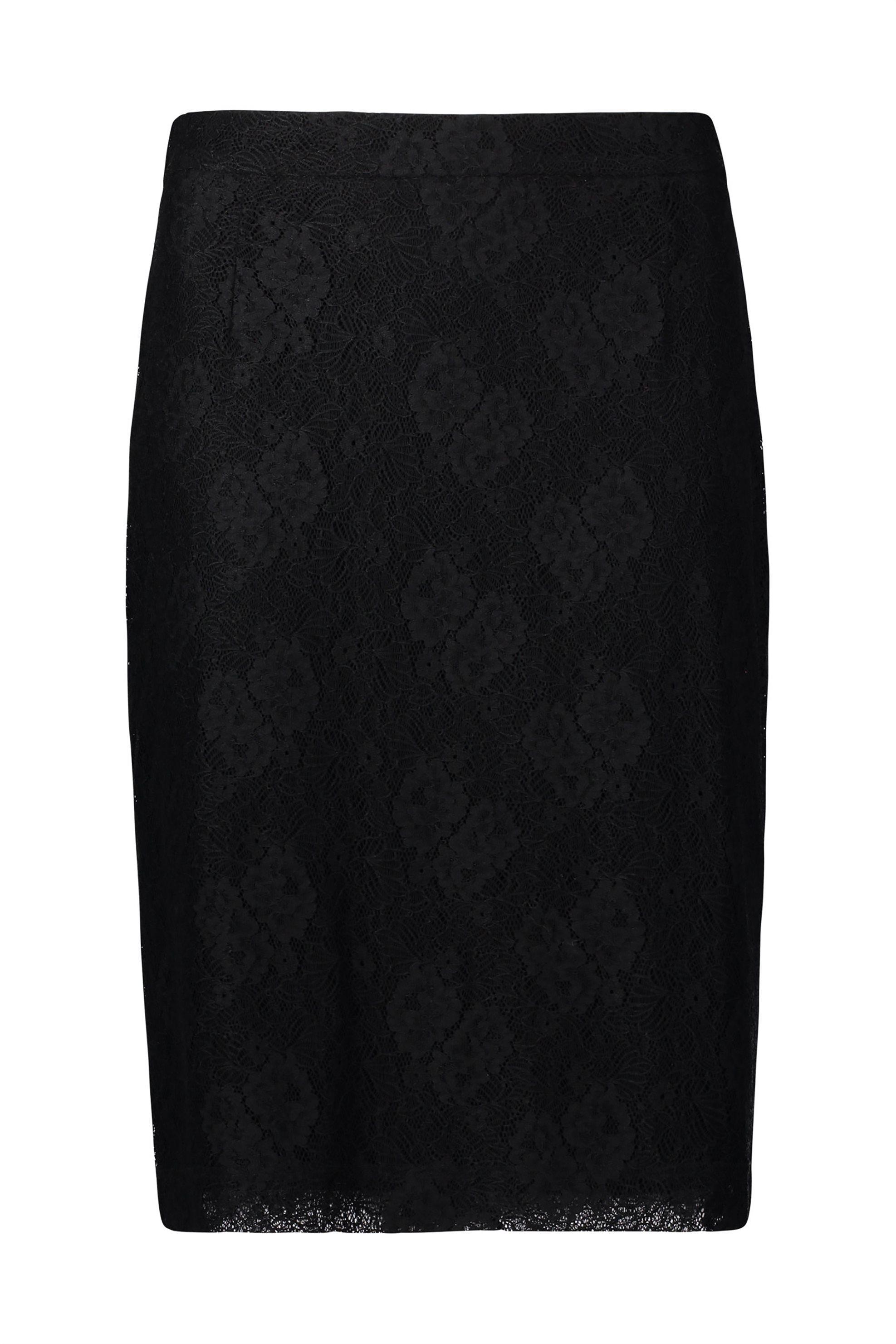 BETTY & CO Γυναικεία Φούστα Pencil Από Δαντέλα - 3353/3009 - Μαύρο