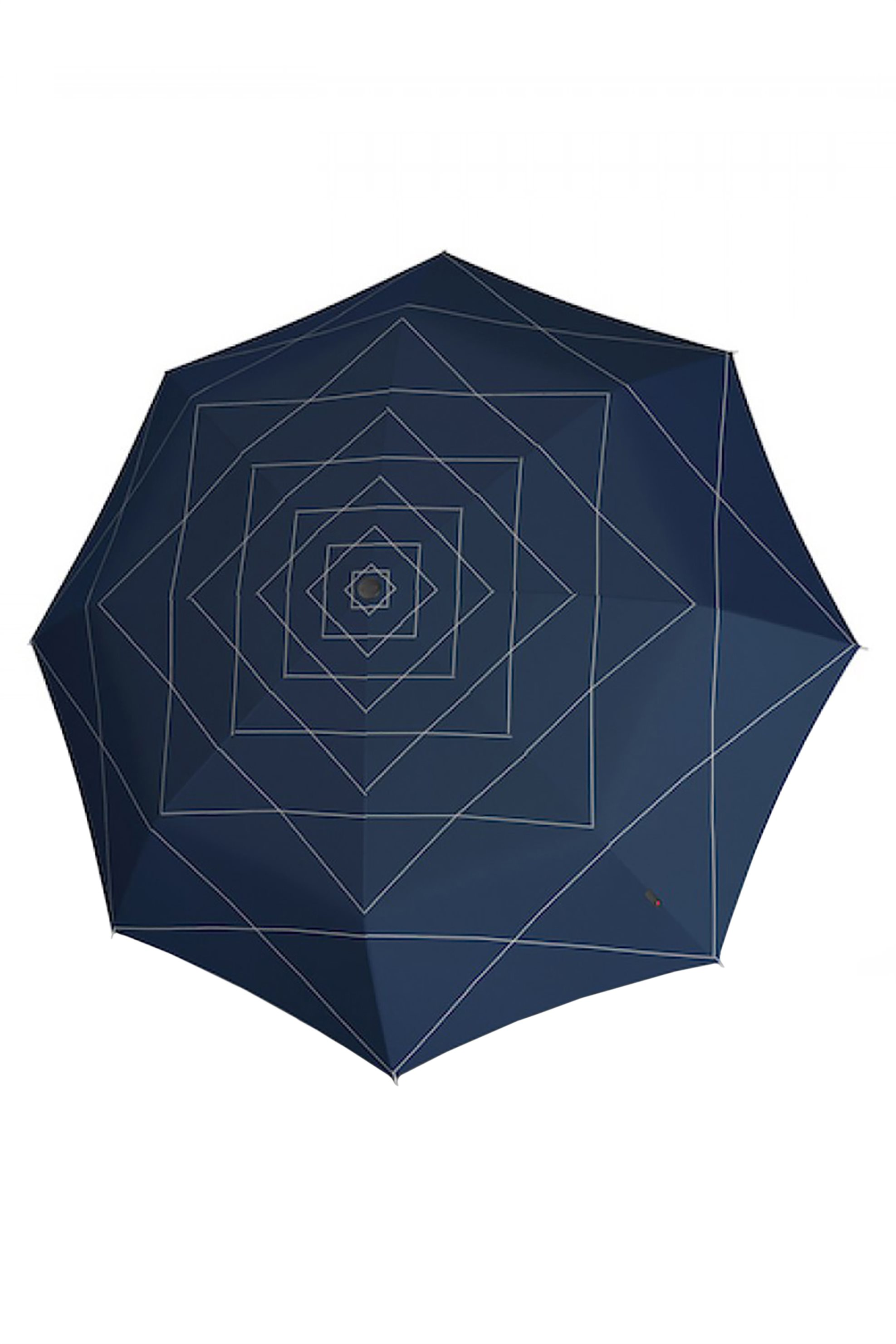 Knirps πτυσσόμενη ομπρέλα με print ''Duomatic'' - KNUM72008315 - Μπλε Σκούρο
