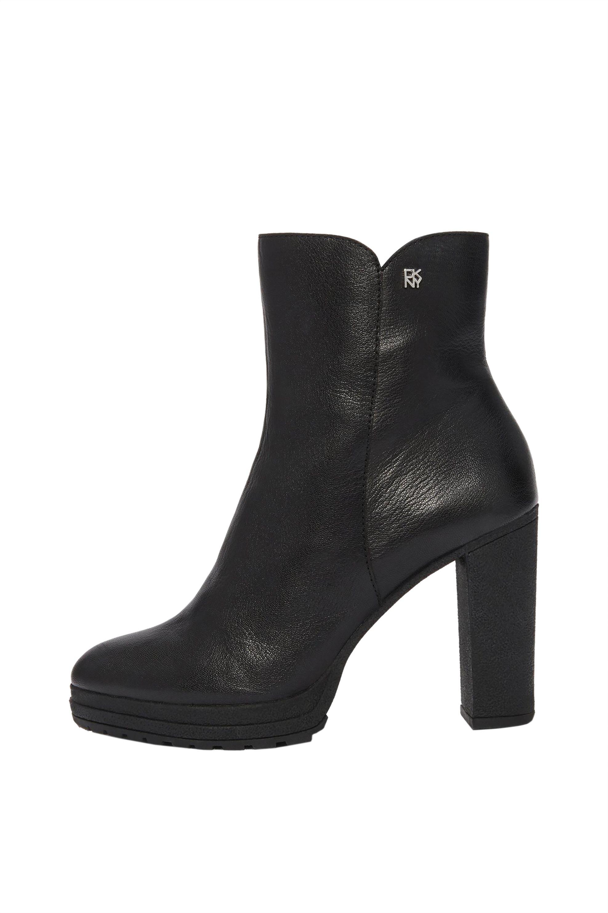"""DKNY γυναικεία δερμάτινα μποτάκια """"Tessi"""" – K3910637 – Μαύρο"""