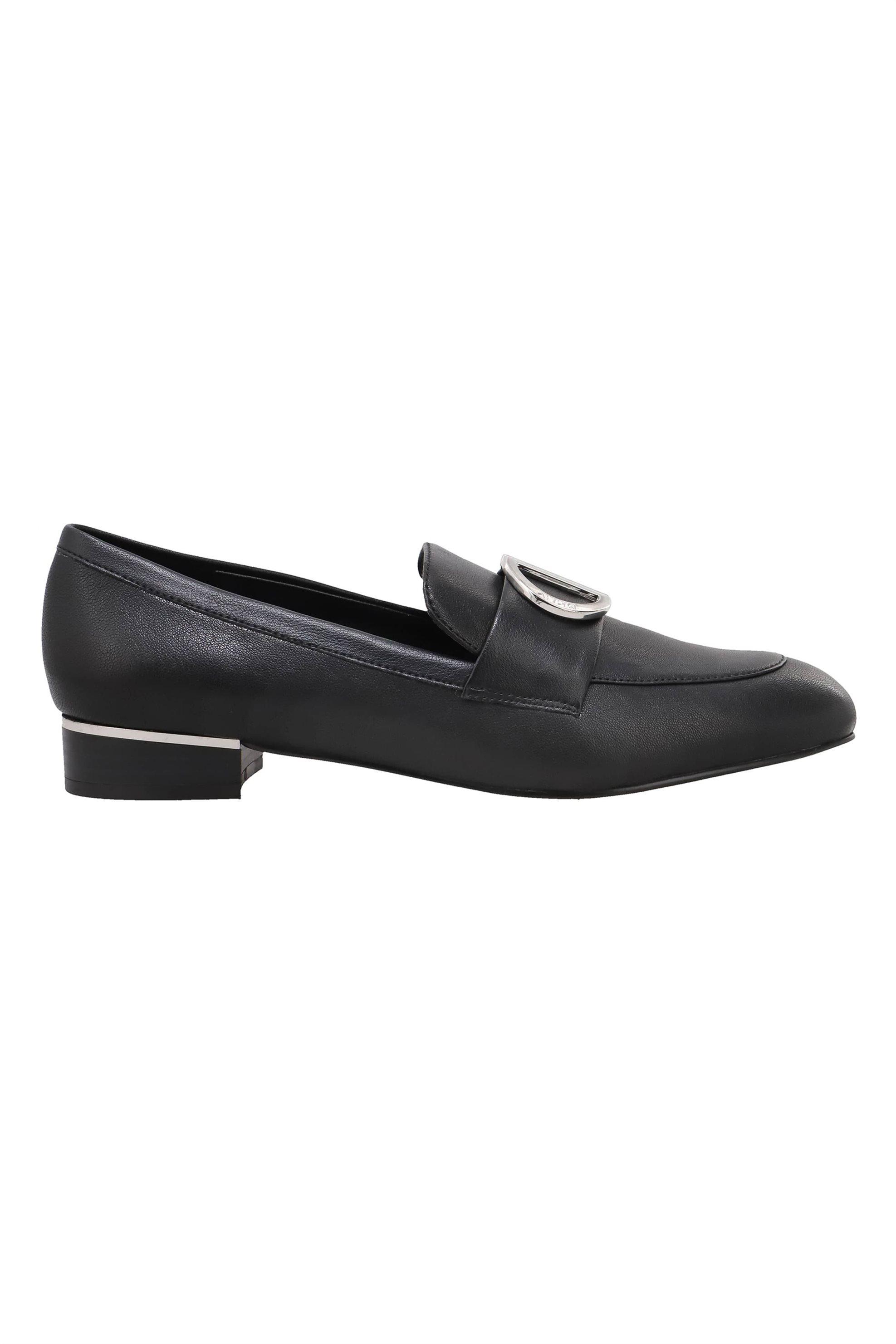 """DKNY γυναικεία loafers με μεταλλική αγράφα """"Eli"""" – K4084594 – Μαύρο"""