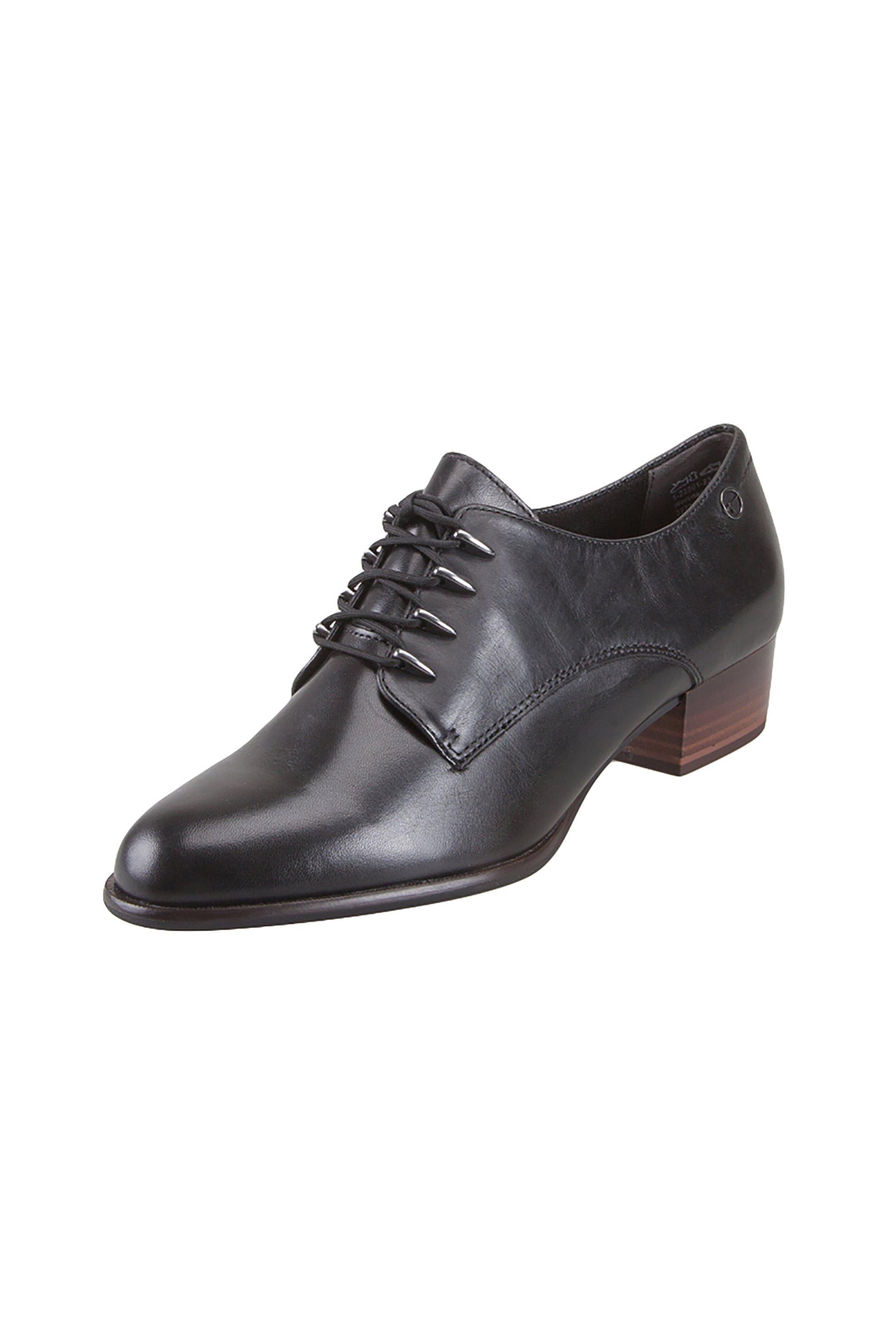 "Tamaris γυναικεία παπούτσια oxford ""Lacer"" – 1-1-23301-23 – Μαύρο"