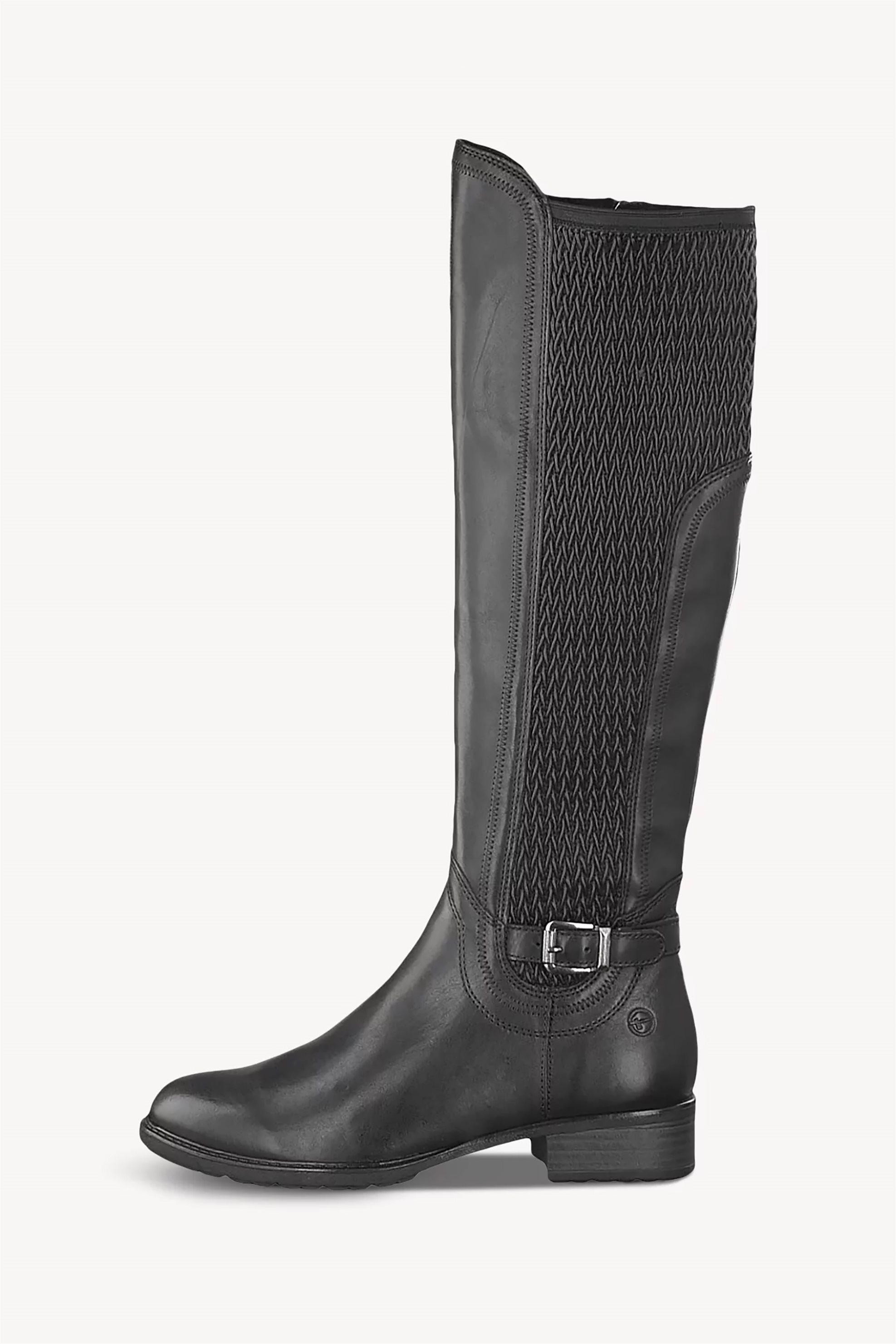 Τamaris γυναικείες μπότες με ανάγλυφο σχέδιο – 1-1-25511-23 – Μαύρο